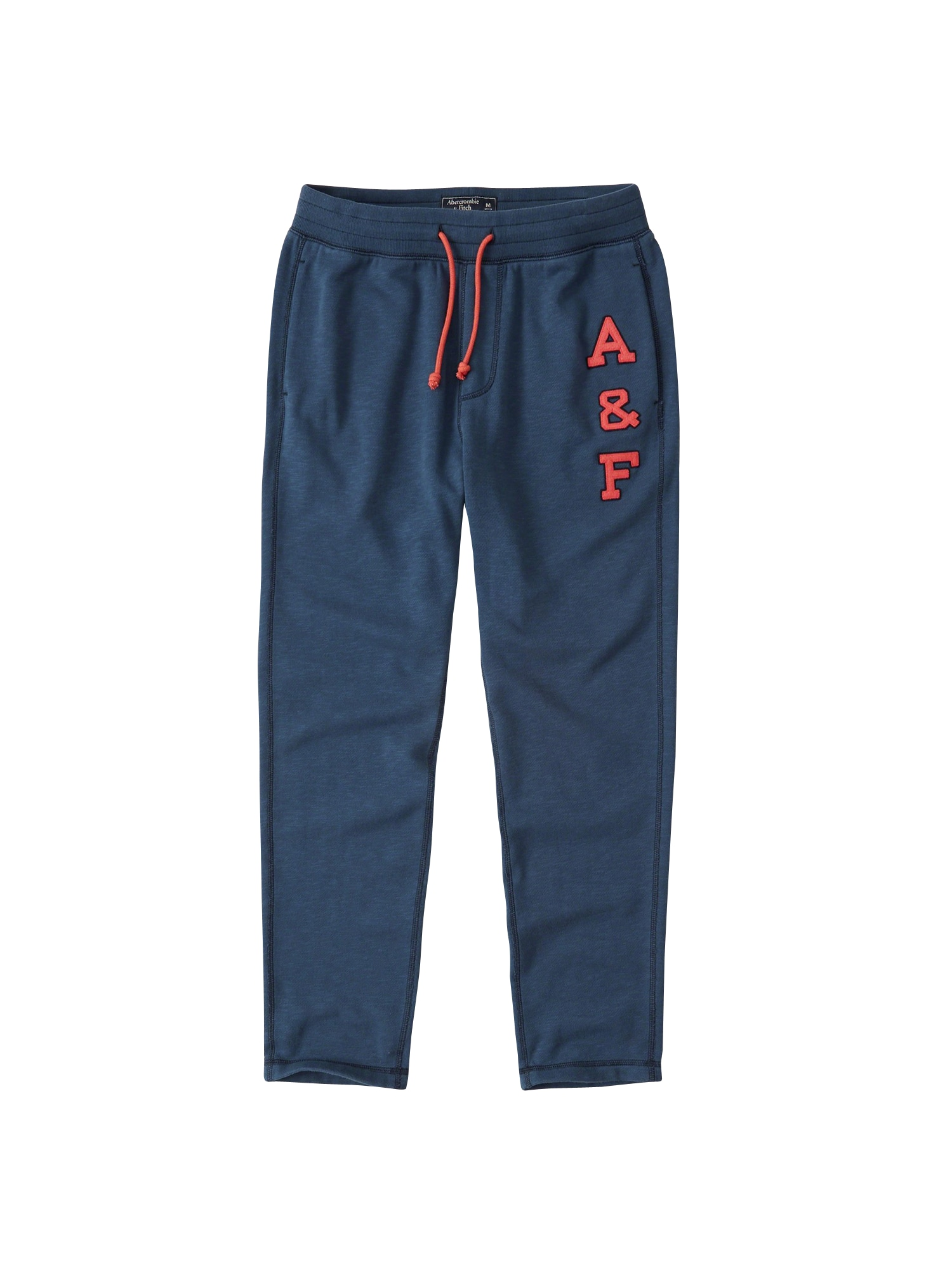 Abercrombie & Fitch, Heren Broek 'FOREVER LOGO CLASSIC PANT DUAL 1CC', blauw