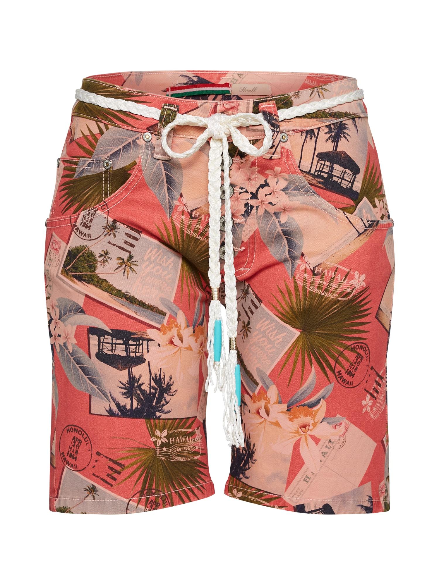 Kalhoty korálová PLEASE