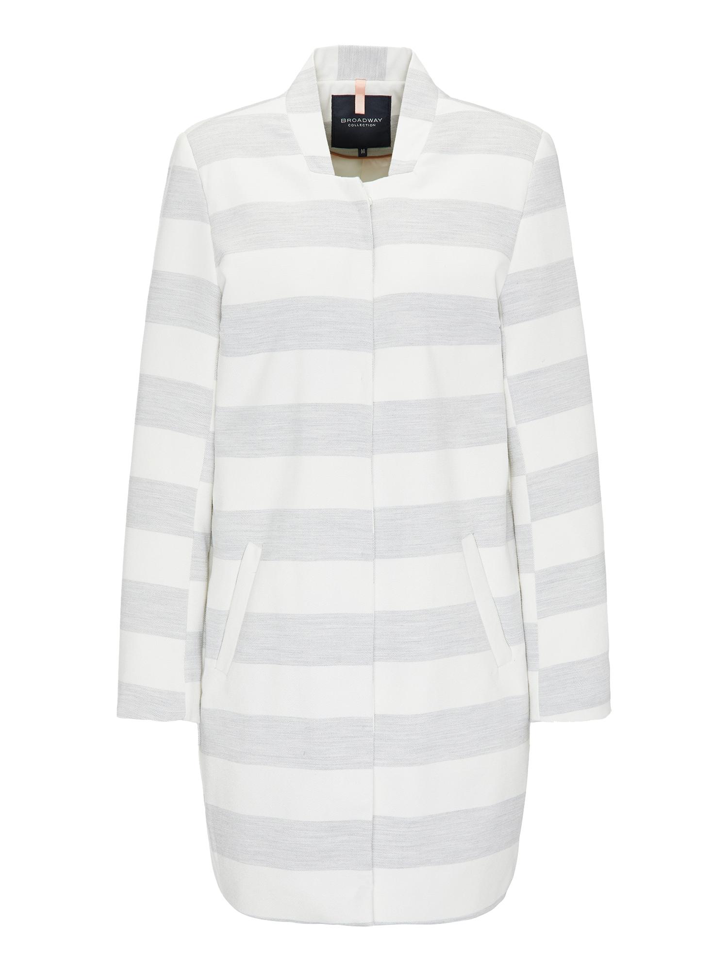 Přechodný kabát COAT NUALA světle šedá bílá BROADWAY NYC FASHION