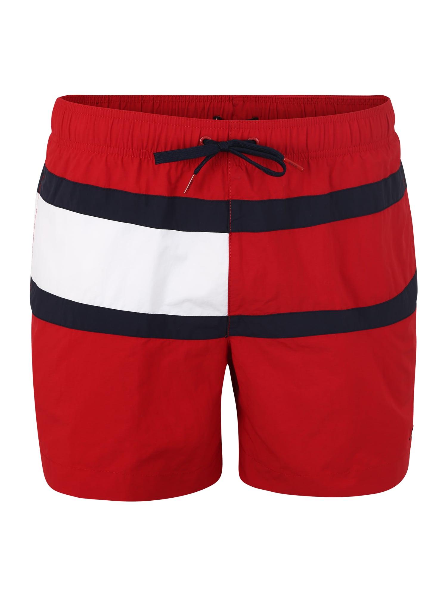 Plavecké šortky MEDIUM DRAWSTRING červená Tommy Hilfiger Underwear