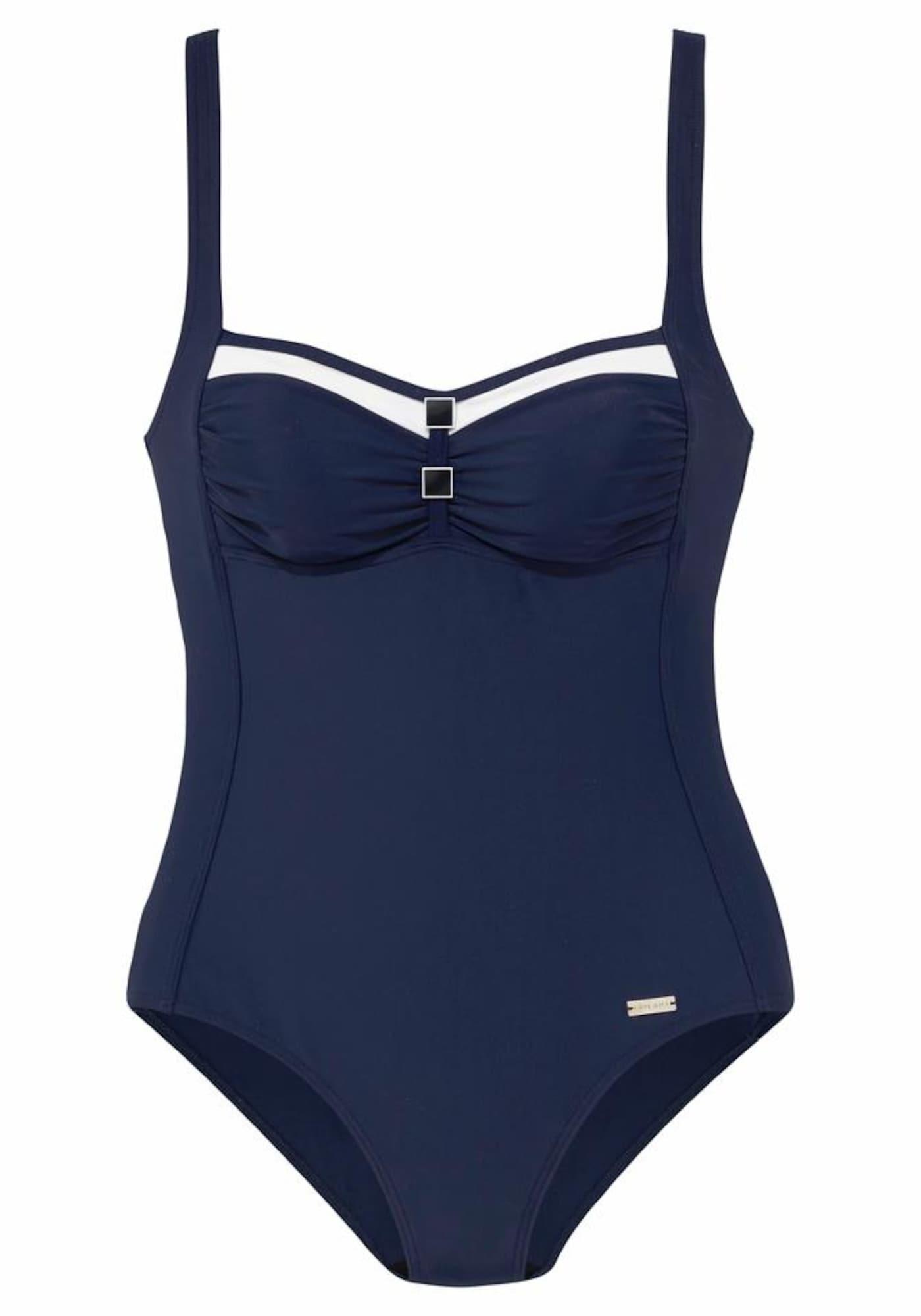 Stahovací plavky námořnická modř bílá LASCANA