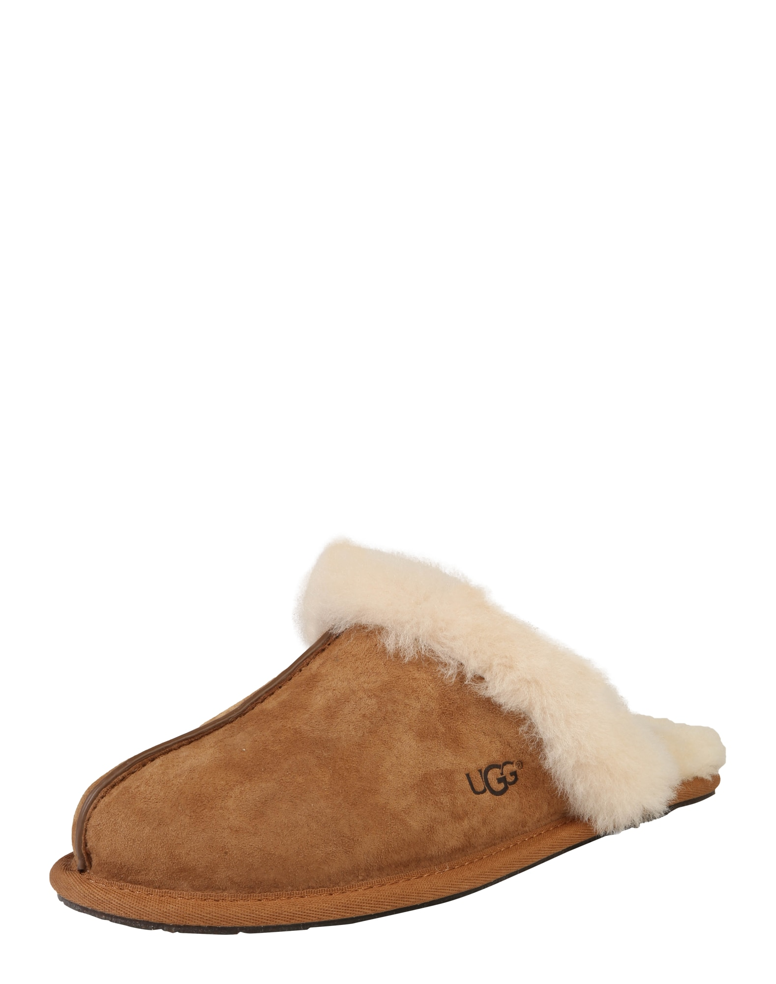 Pantofle Scuffette koňaková bílá UGG