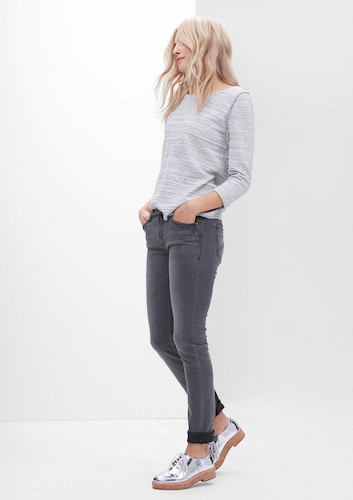 #S.Oliver #RED #LABEL #Damen #Shape #Slim: #Colored #Denim #grey #denim
