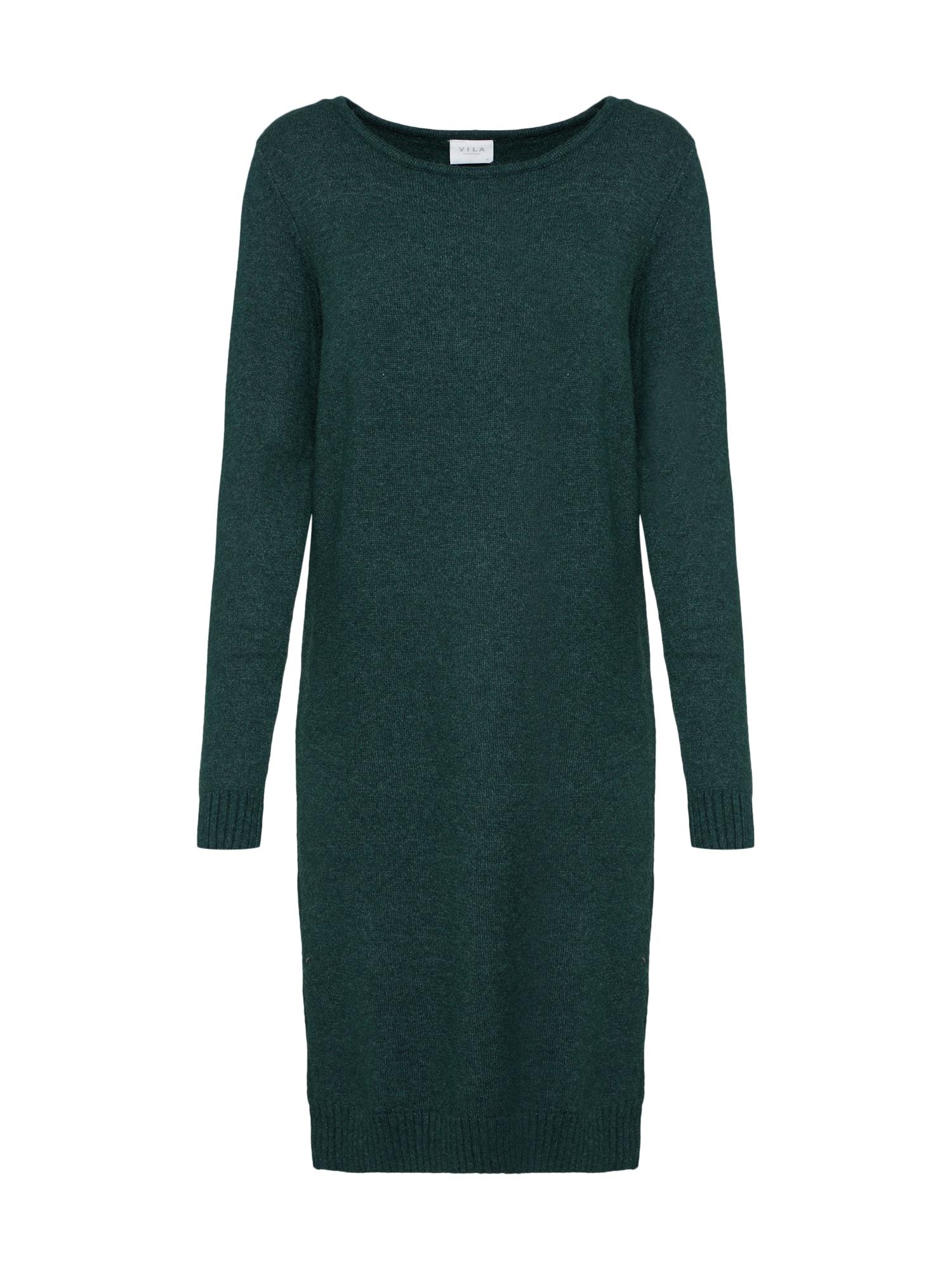 Úpletové šaty zelená VILA