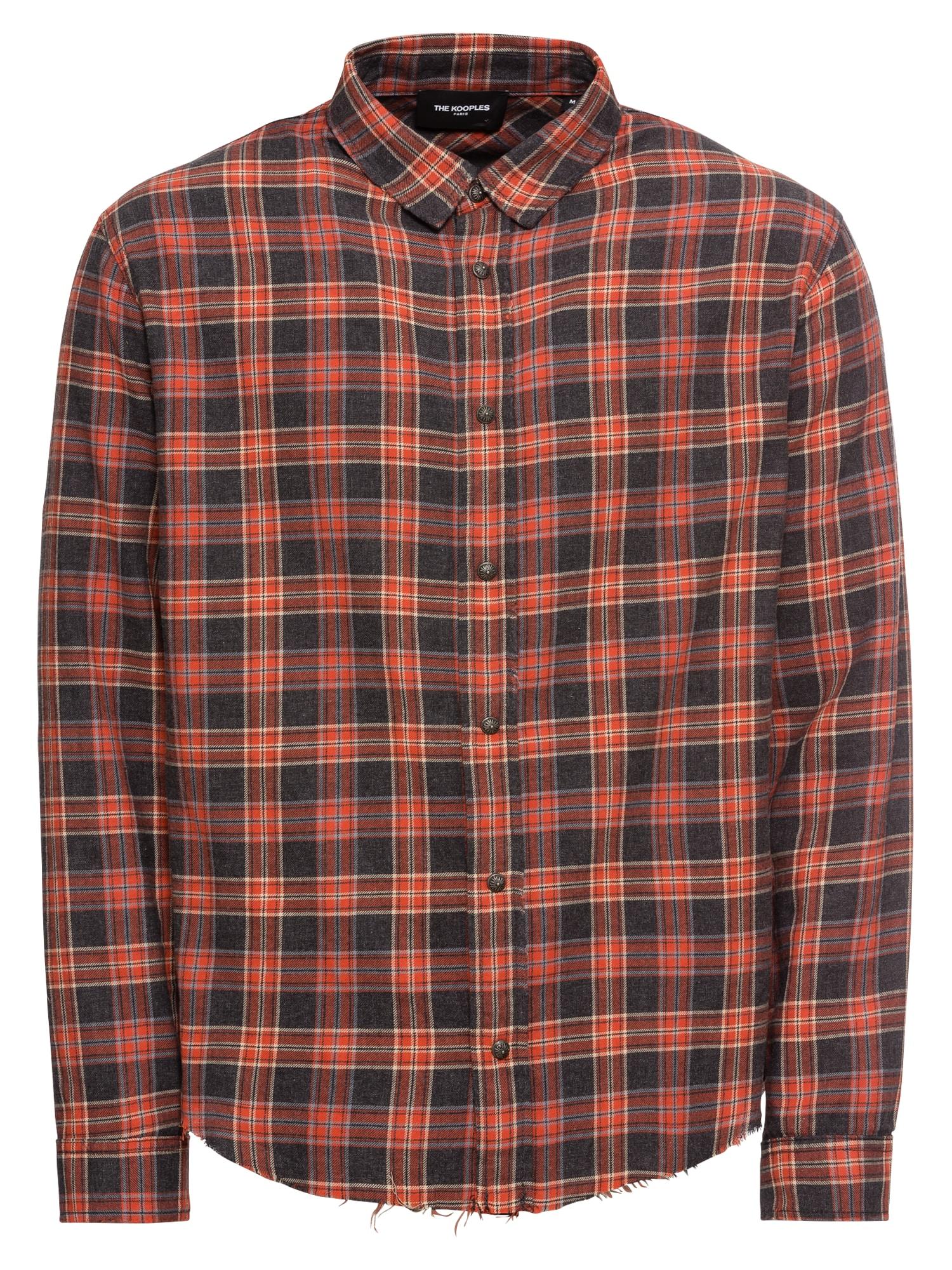 Košile SHIRT tmavě modrá červená The Kooples