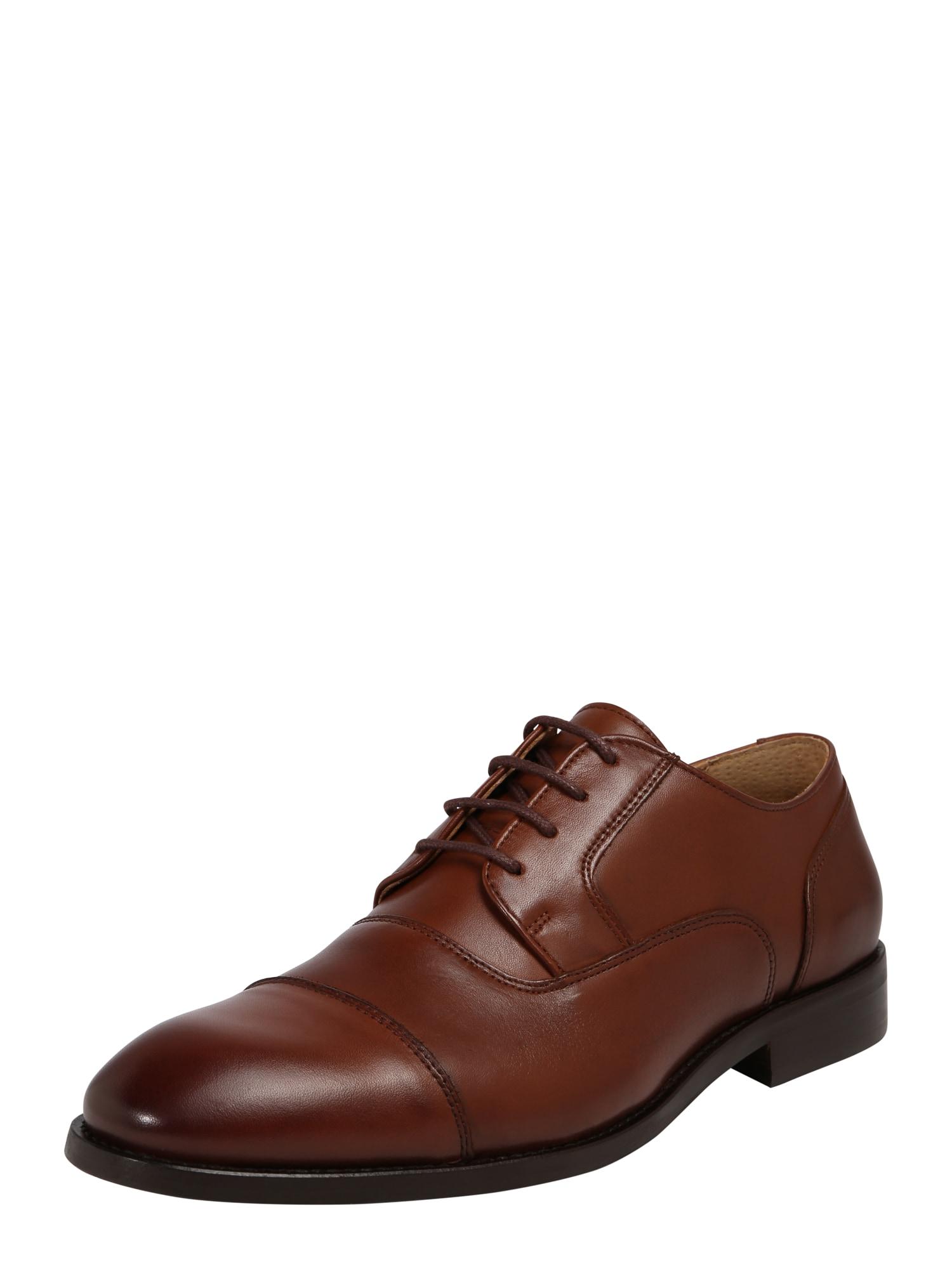 Šněrovací boty koňaková Bianco