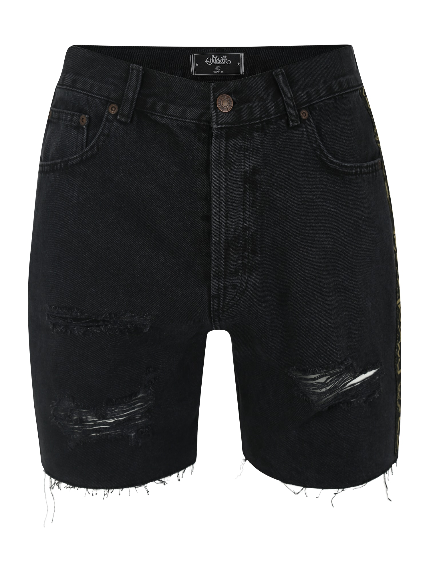 Kalhoty černá džínovina SikSilk