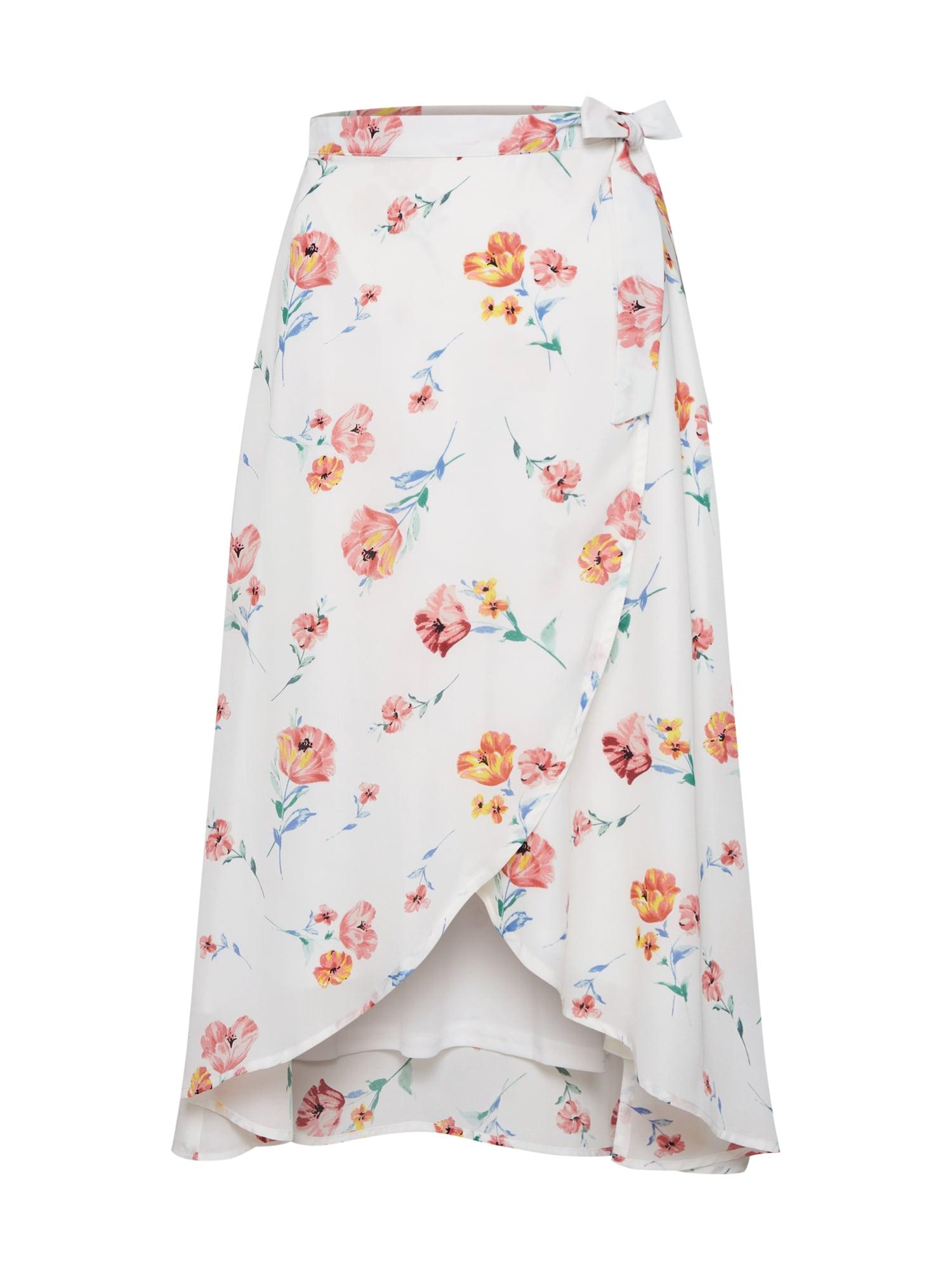 Sukně MEAD SKIRT růžová bílá Fashion Union