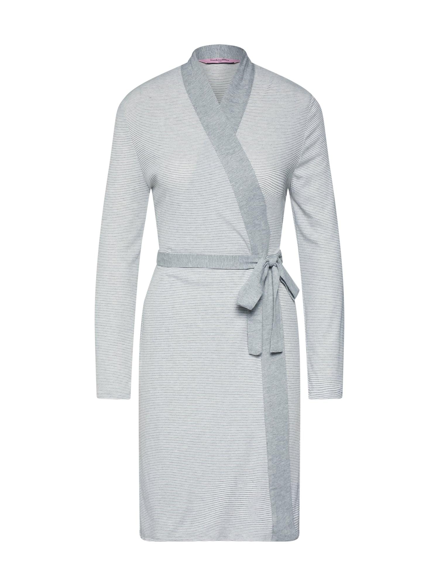 Morgenmantel 'Robe Jersey Rib' | Bekleidung > Homewear > Morgenmäntel | Grau | Hunkemöller