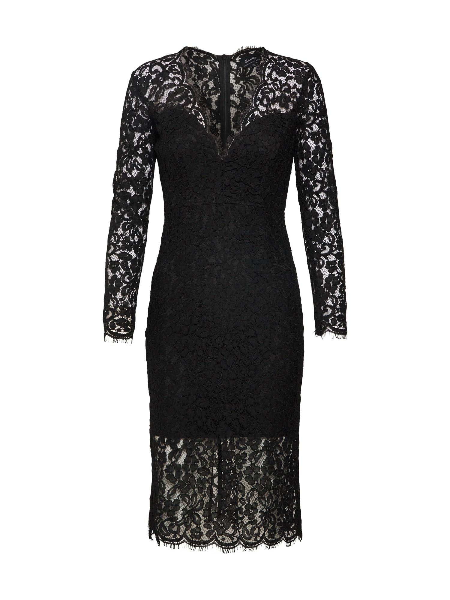 Koktejlové šaty MIDNIGHT LACE DRESS černá Bardot