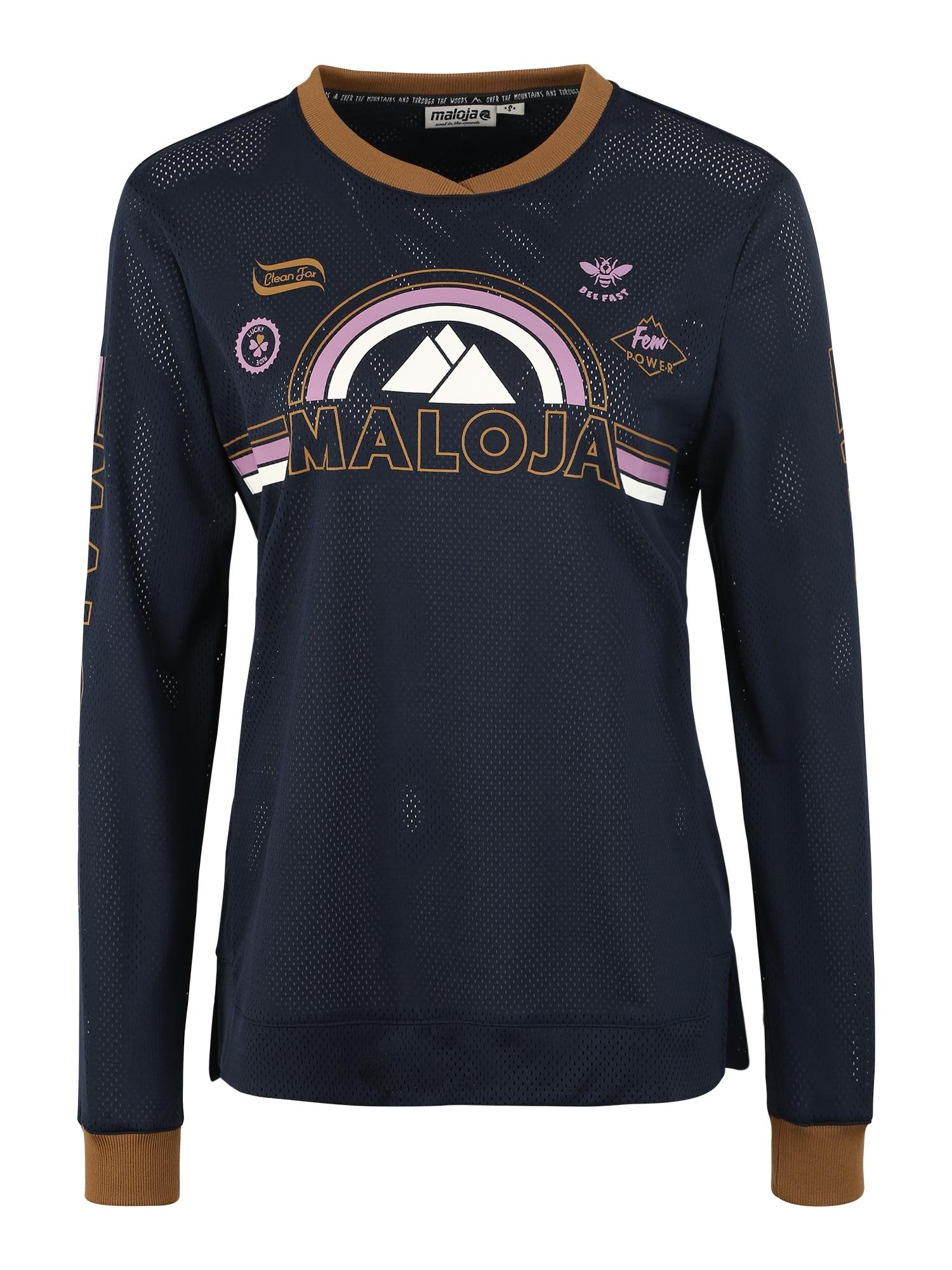 Funkční tričko ScudoriaM. tmavě modrá Maloja
