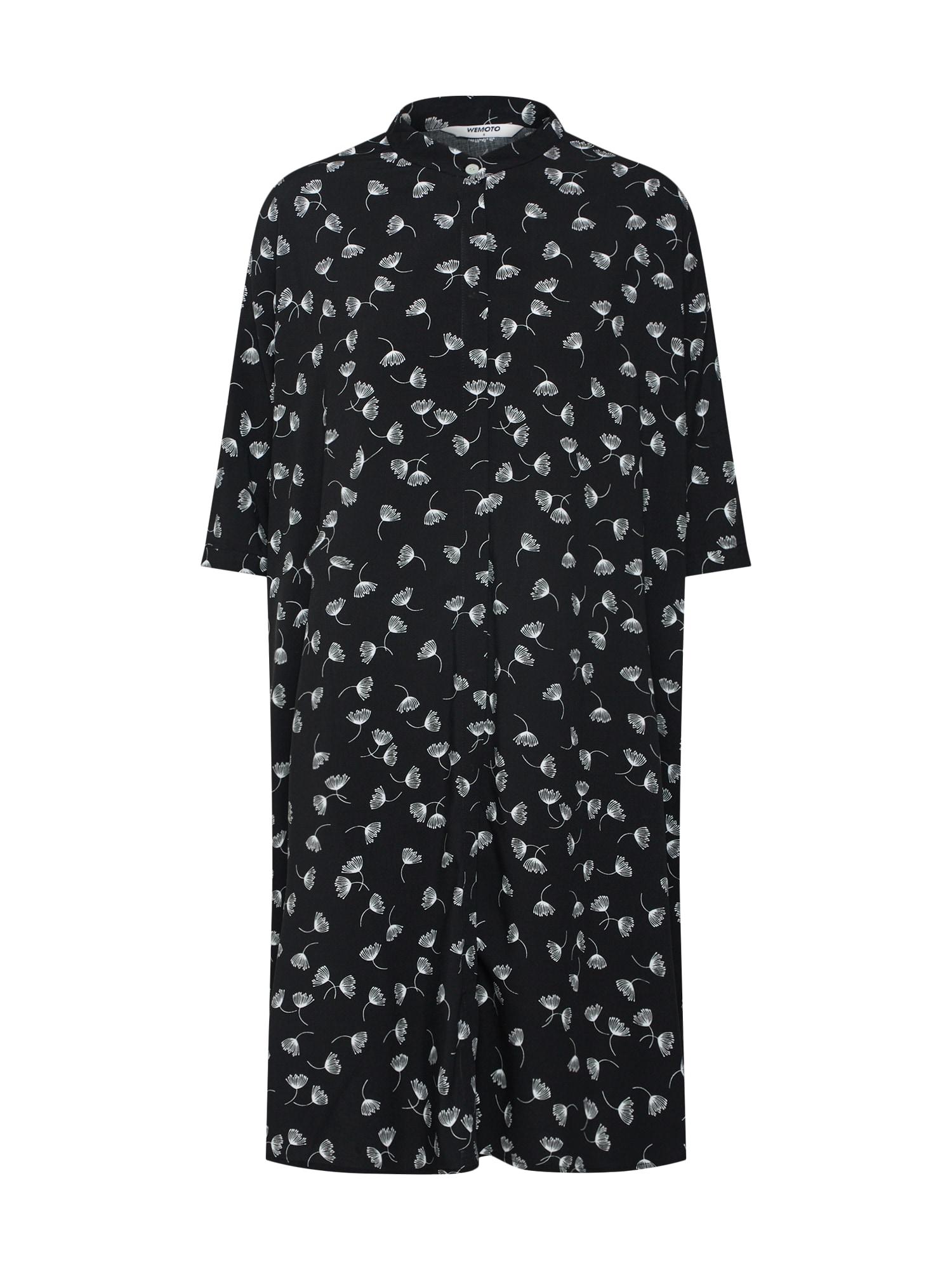 Košilové šaty Hume Printed černá bílá Wemoto