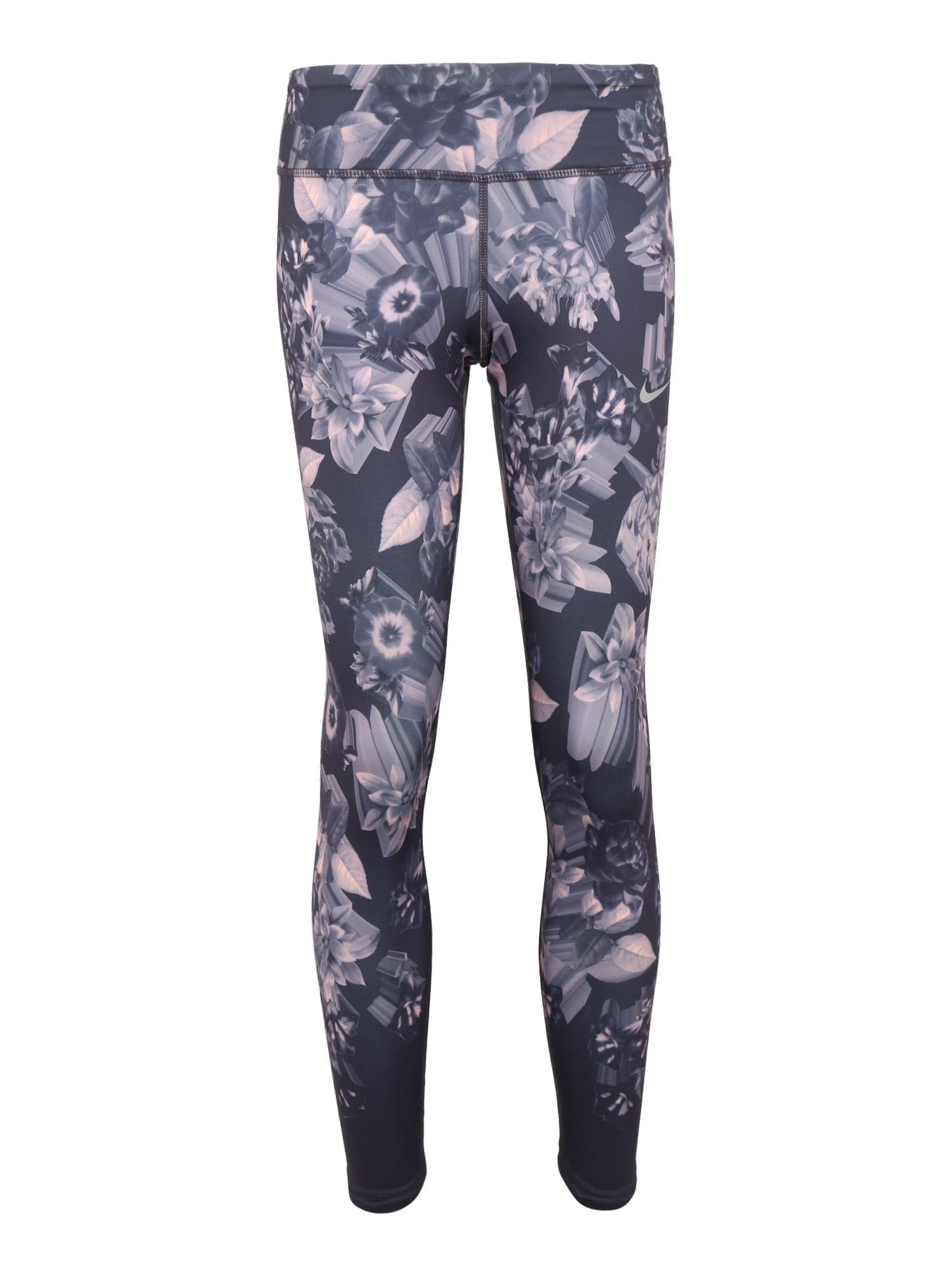 Sportovní kalhoty EPIC LUX čedičová šedá světle fialová NIKE