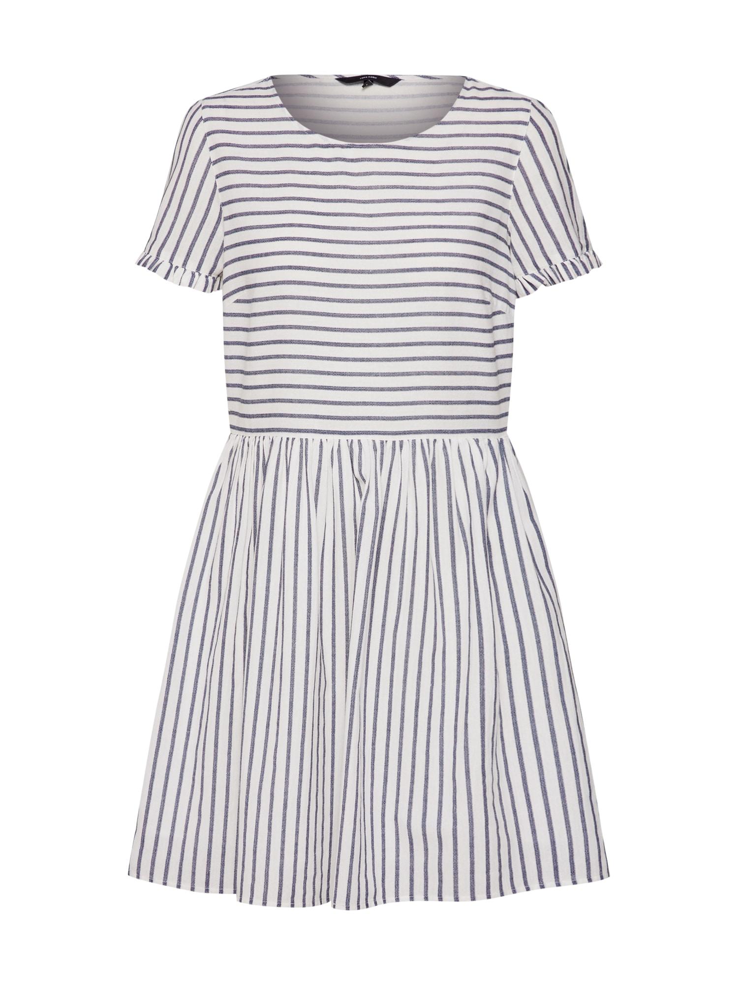 Letní šaty VMCOCO STRIPY SS SHORT DRESS modrá bílá VERO MODA