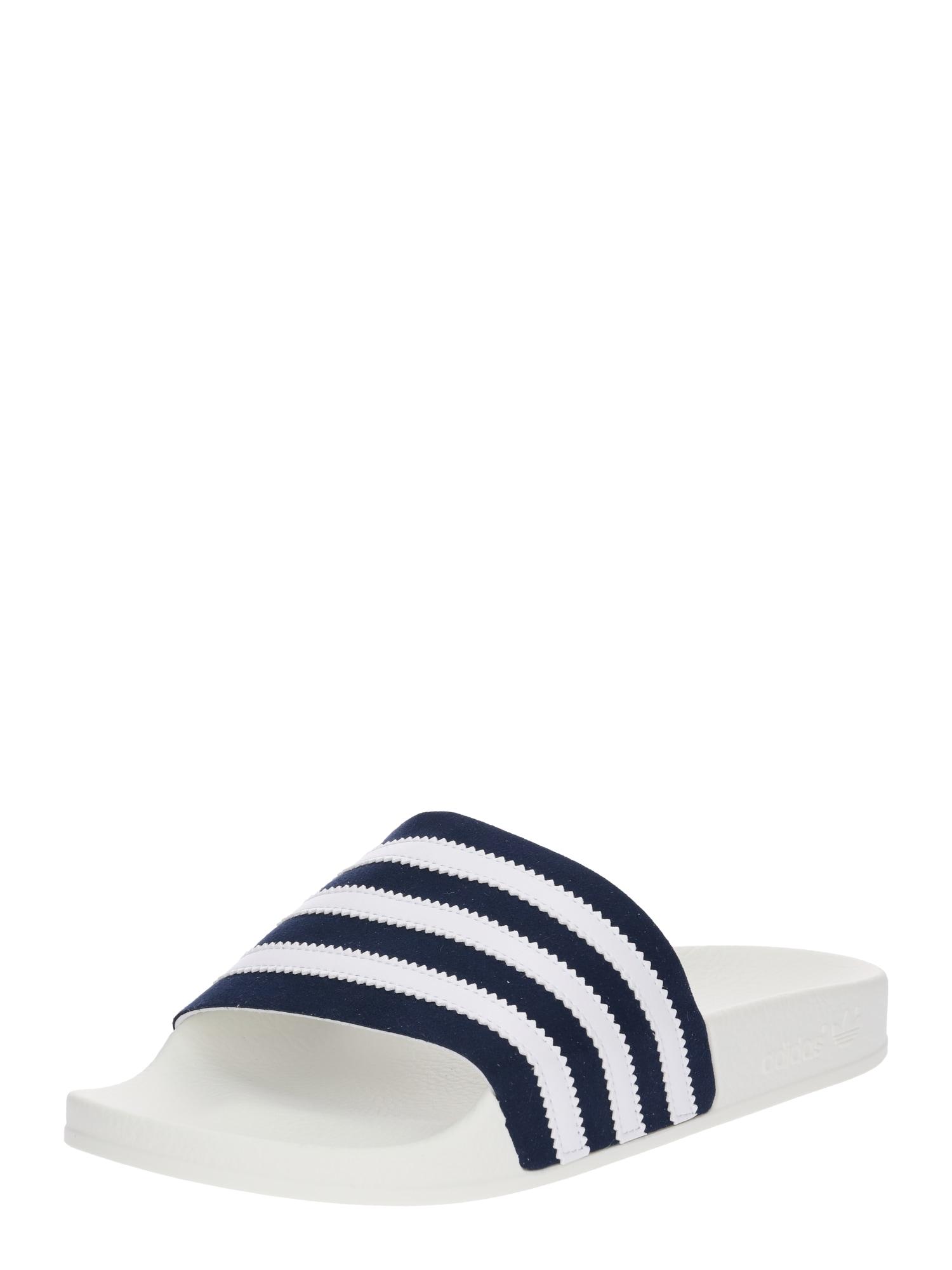 Pantofle Adilette námořnická modř bílá ADIDAS ORIGINALS