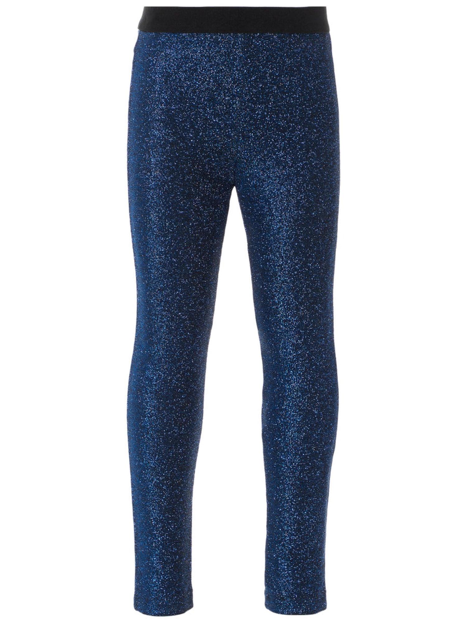NAME IT Mini Glitter Legging Dames Blauw
