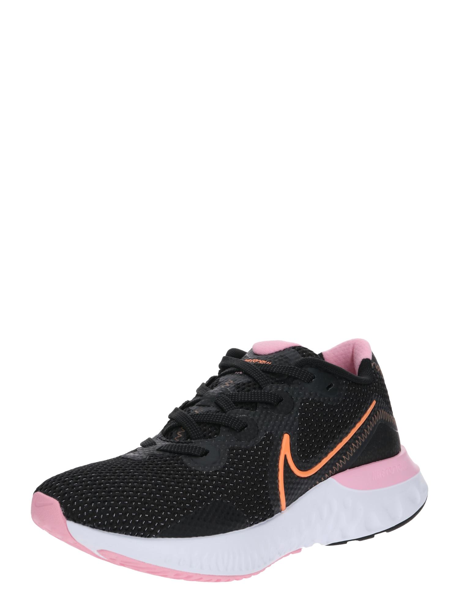 NIKE Bežecká obuv 'Nike Renew Run'  oranžová / ružová / čierna