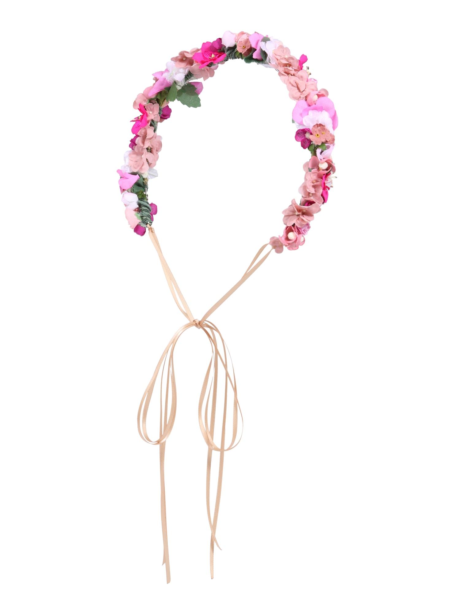 Šperky do vlasů Flowercrown zelená pink růžová We Are Flowergirls