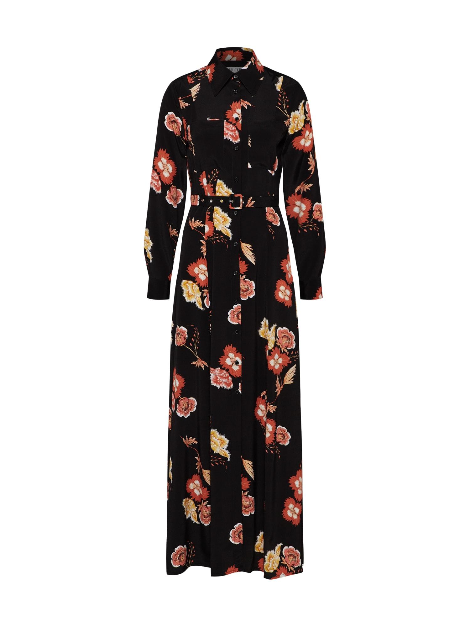 Košilové šaty Joana mix barev černá EDITED