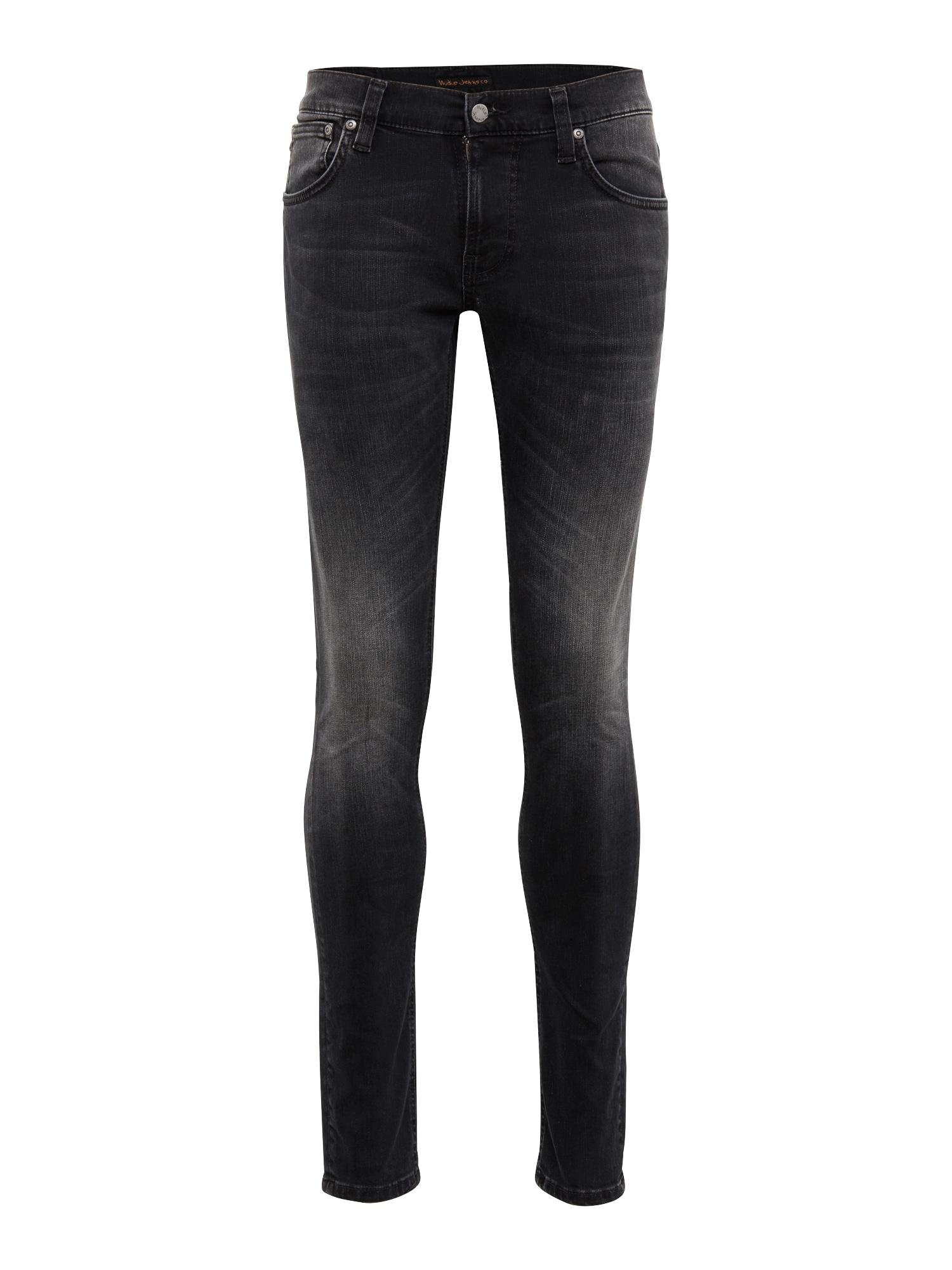 Džíny Tight Terry černá džínovina Nudie Jeans Co