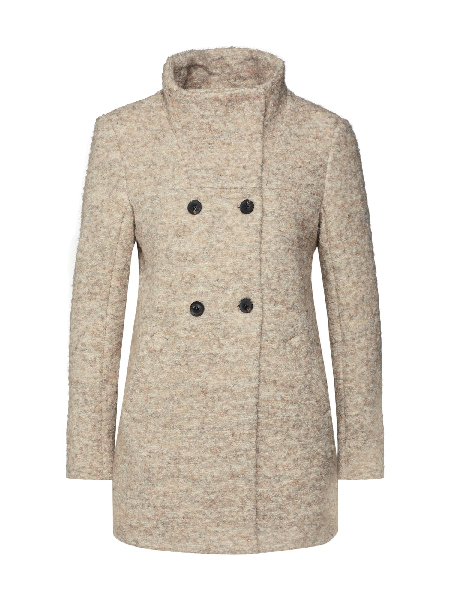 Přechodný kabát SOPHIA béžová krémová ONLY