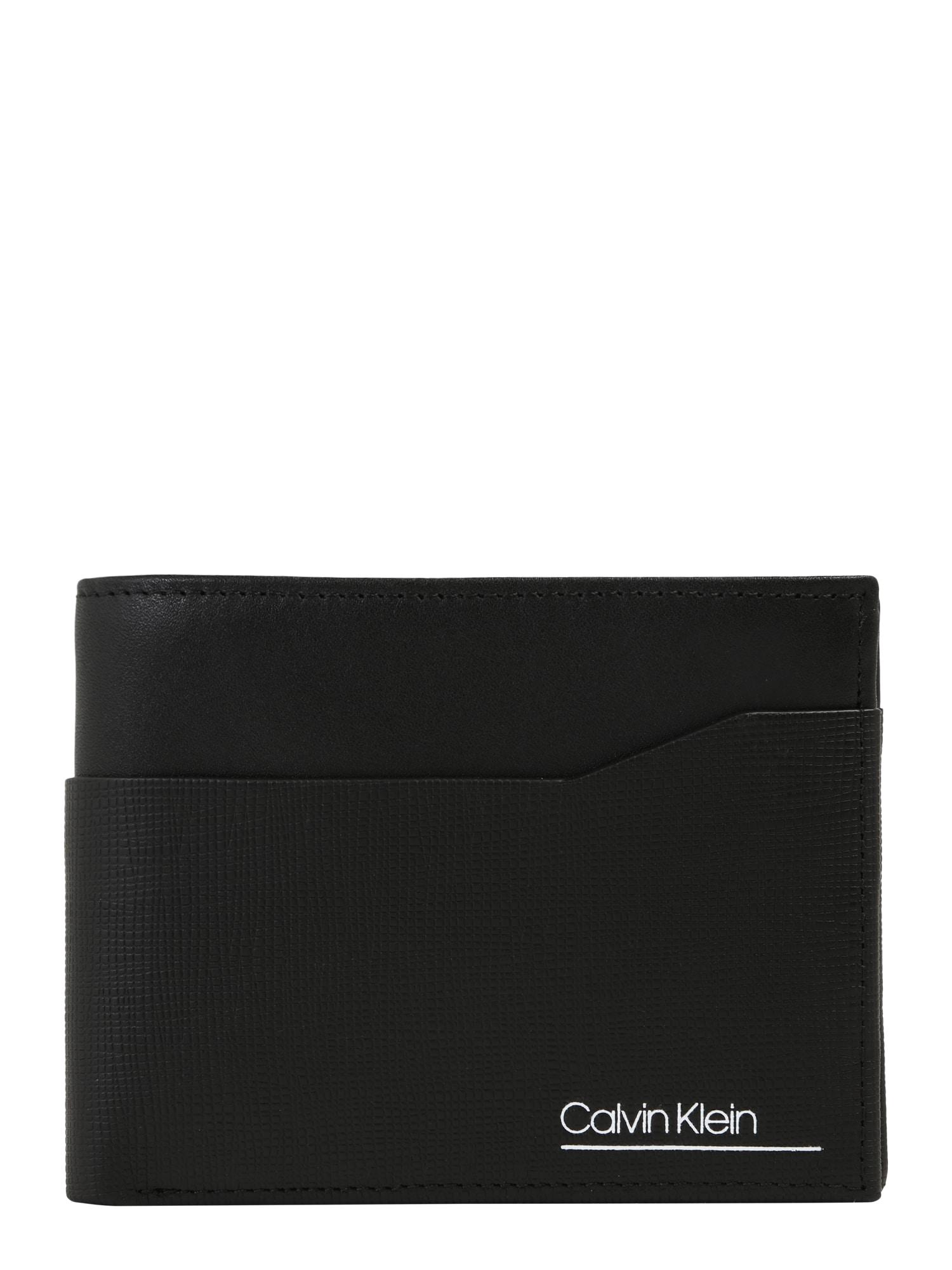 Calvin Klein Peněženka 'CK SLIVERED 5CC COIN'  černá