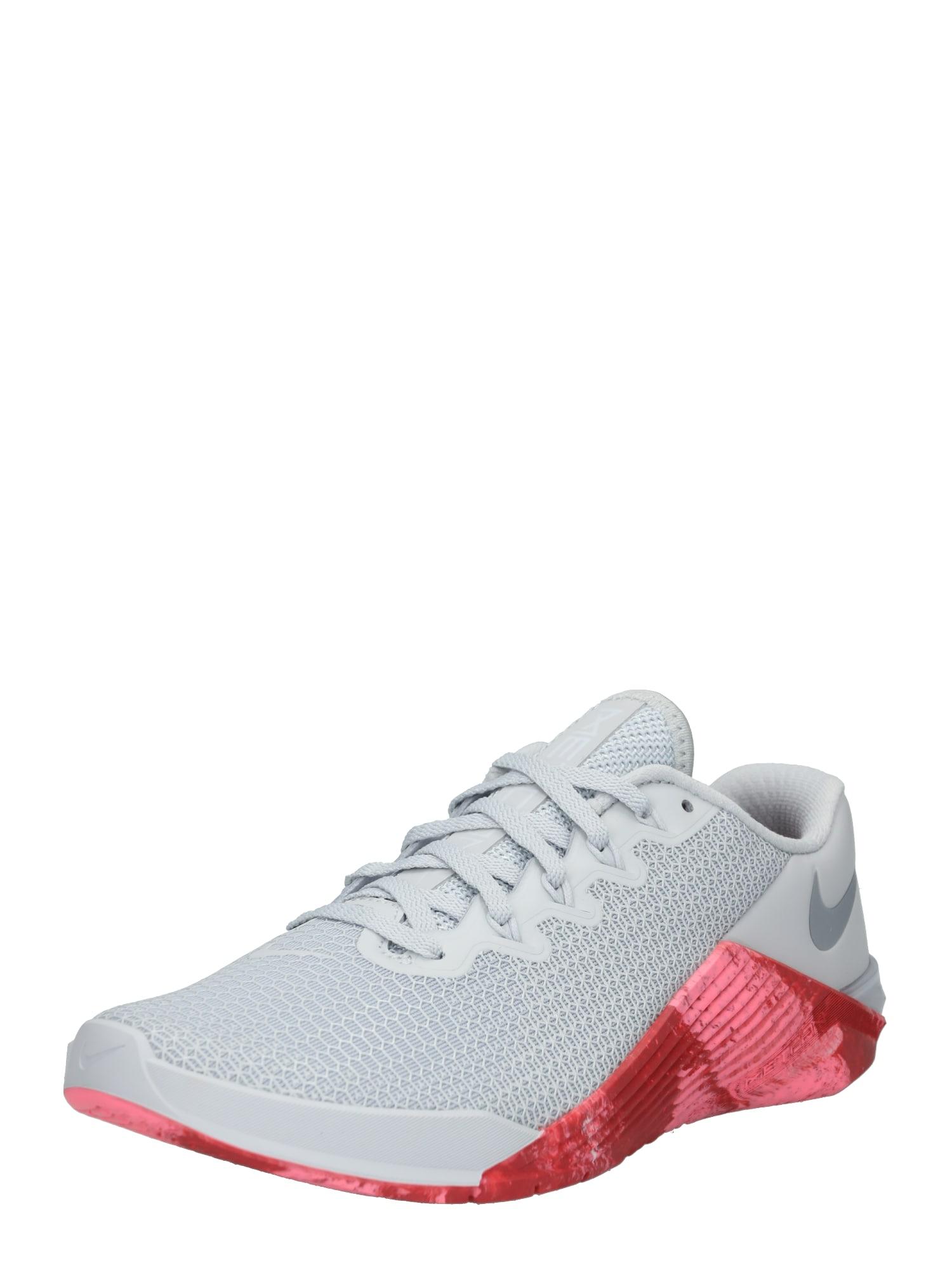 Sportovní boty WMNS METCON 5 šedá červená NIKE