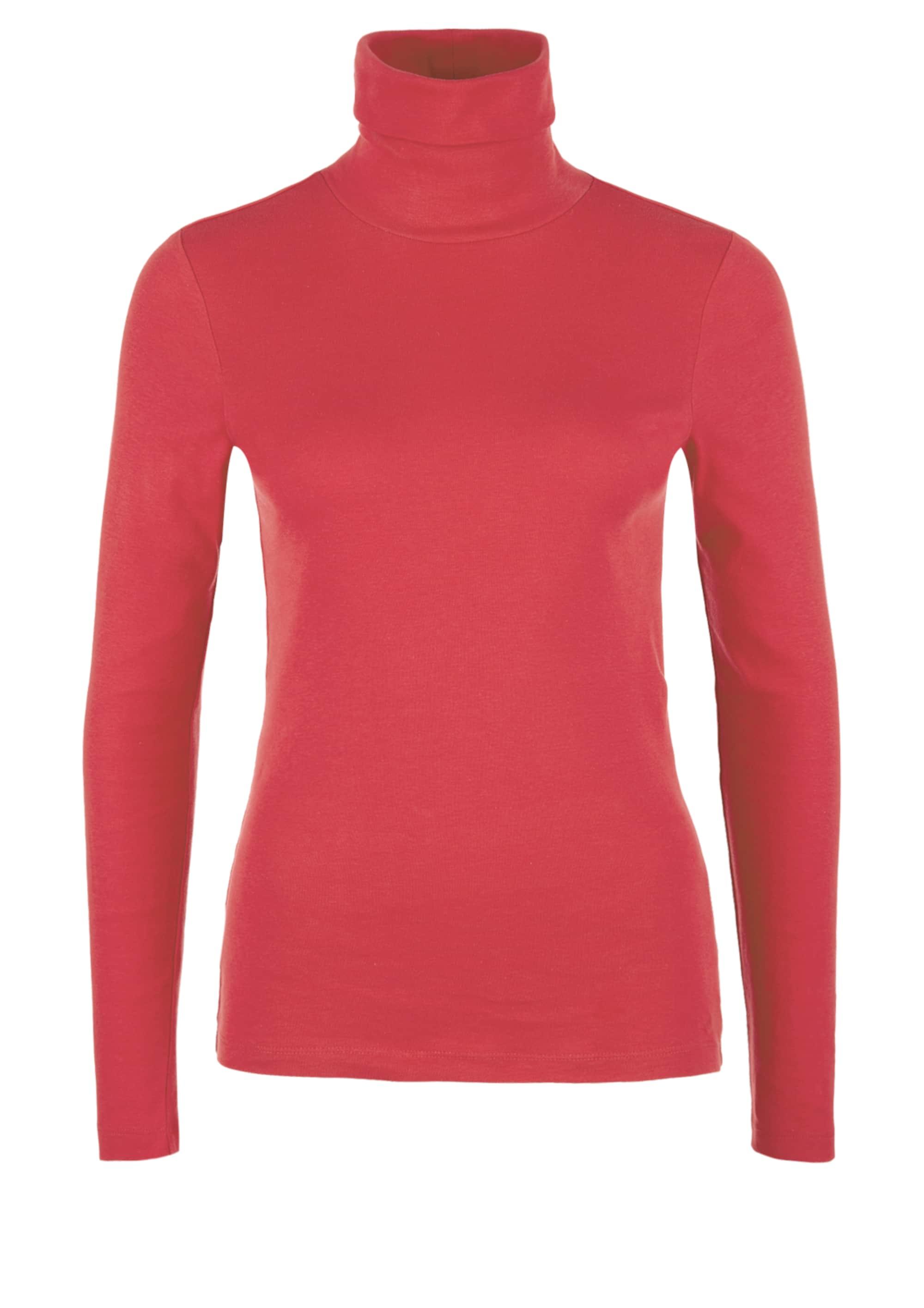 s.oliver red label - Rippshirt mit Rollkragen