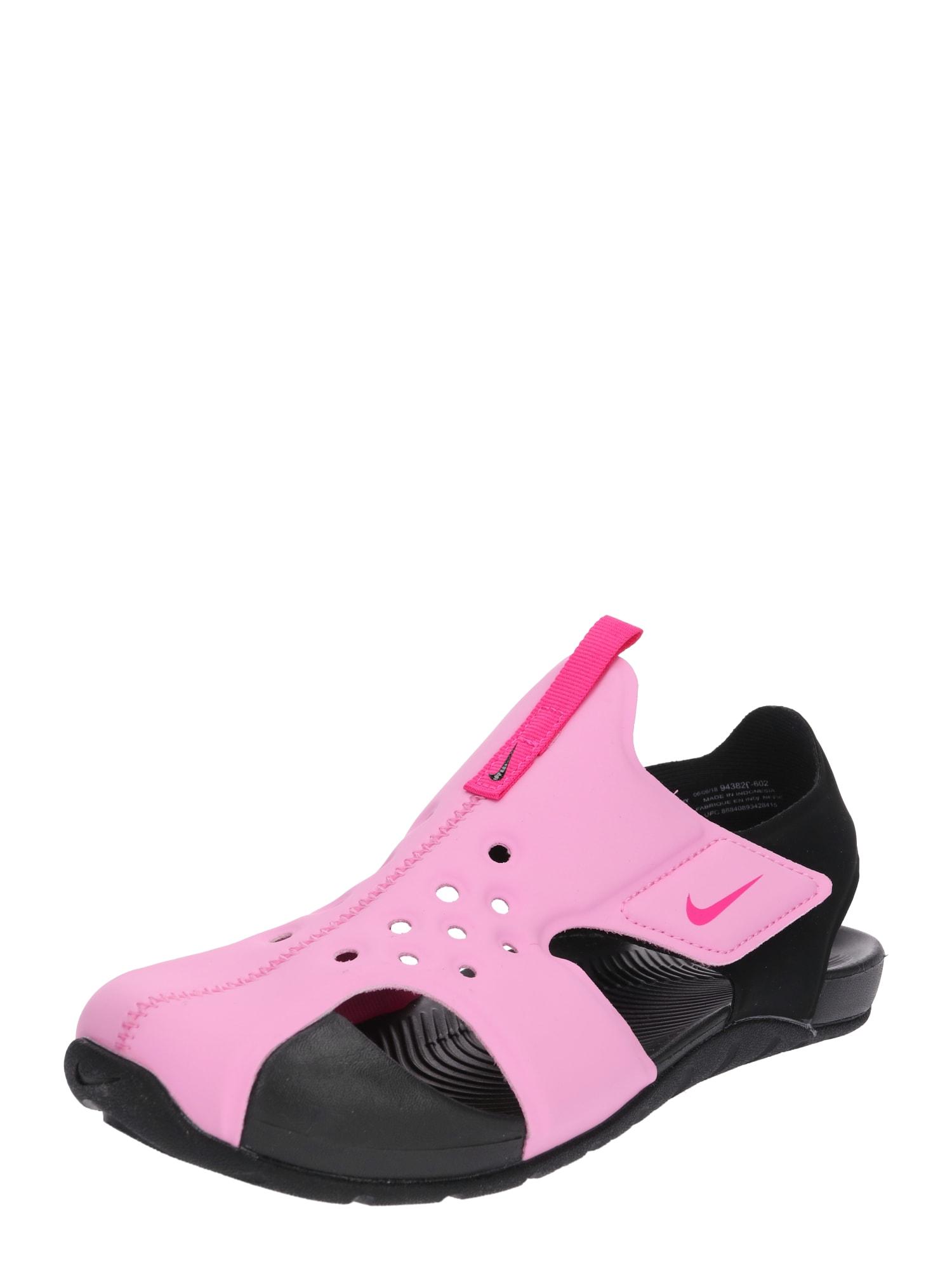 Plážovákoupací obuv Sunray Protect pink černá Nike Sportswear
