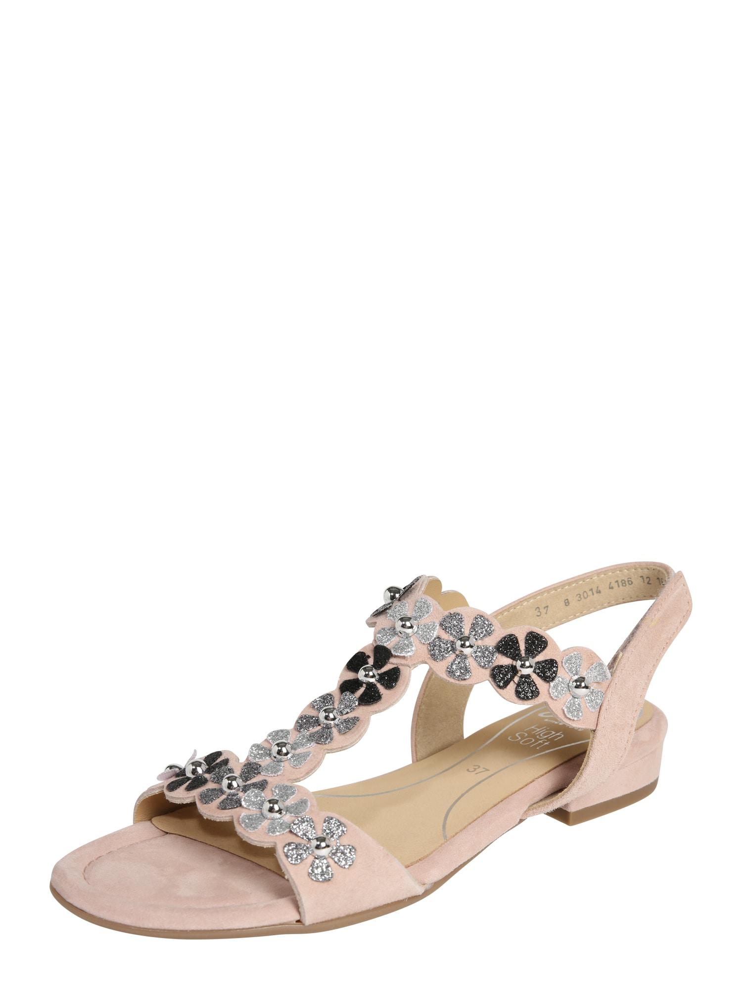 Sandály Vegas béžová stříbrná ARA