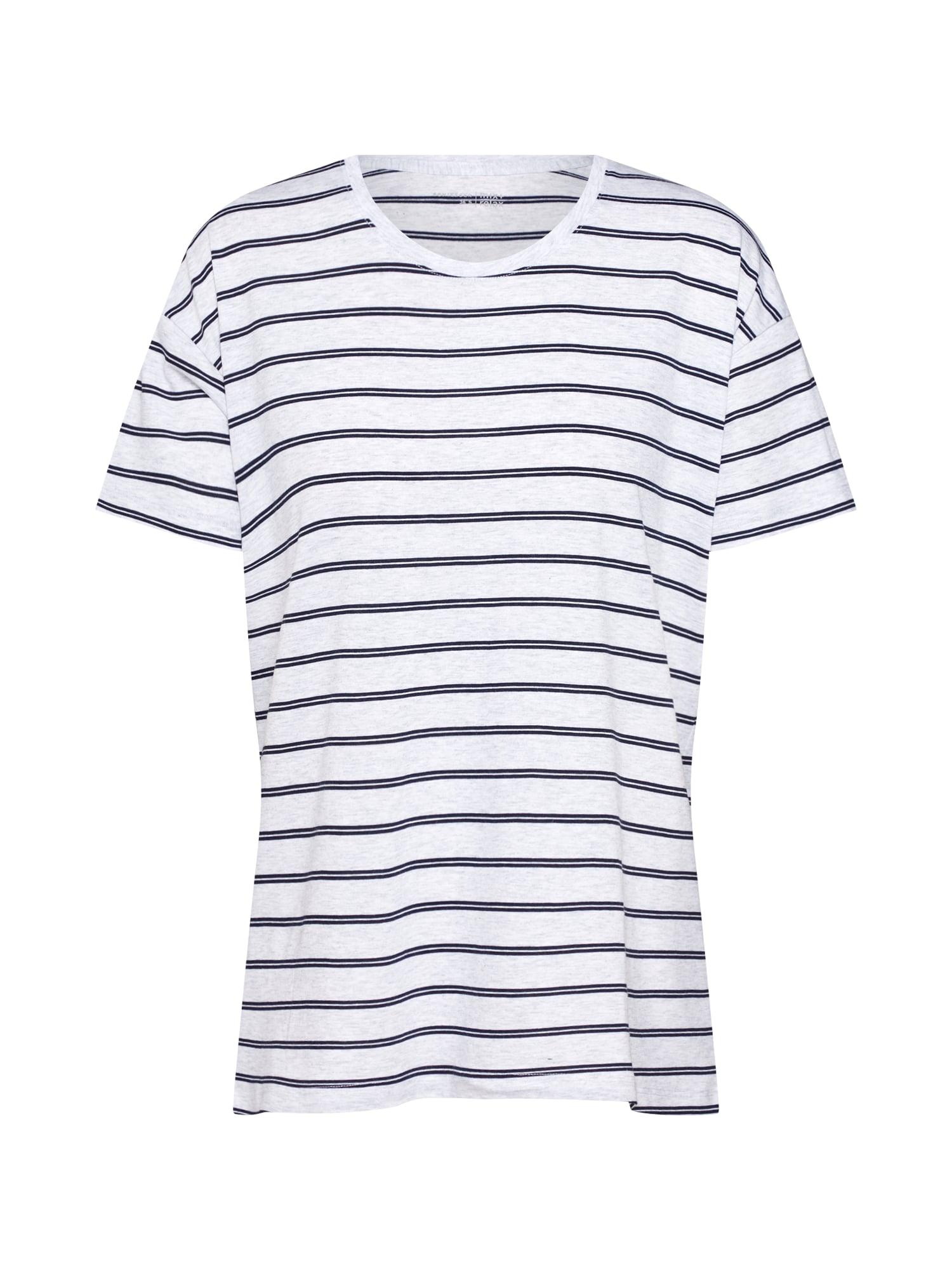 Tričko na spaní noční modrá šedý melír SCHIESSER