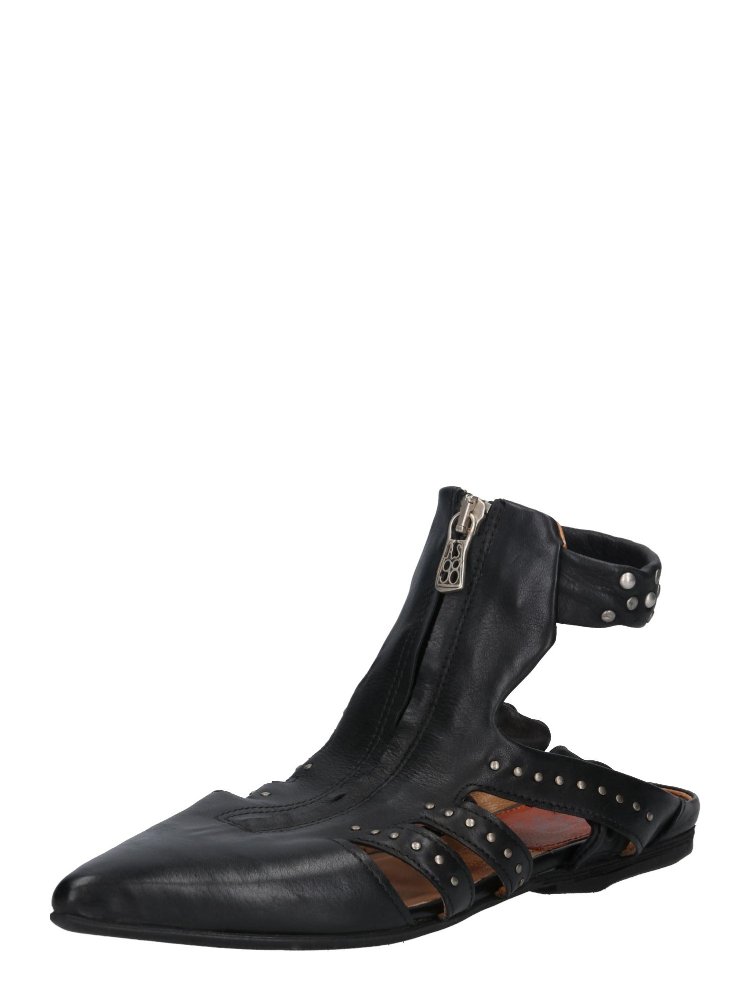 Páskové sandály černá A.S.98