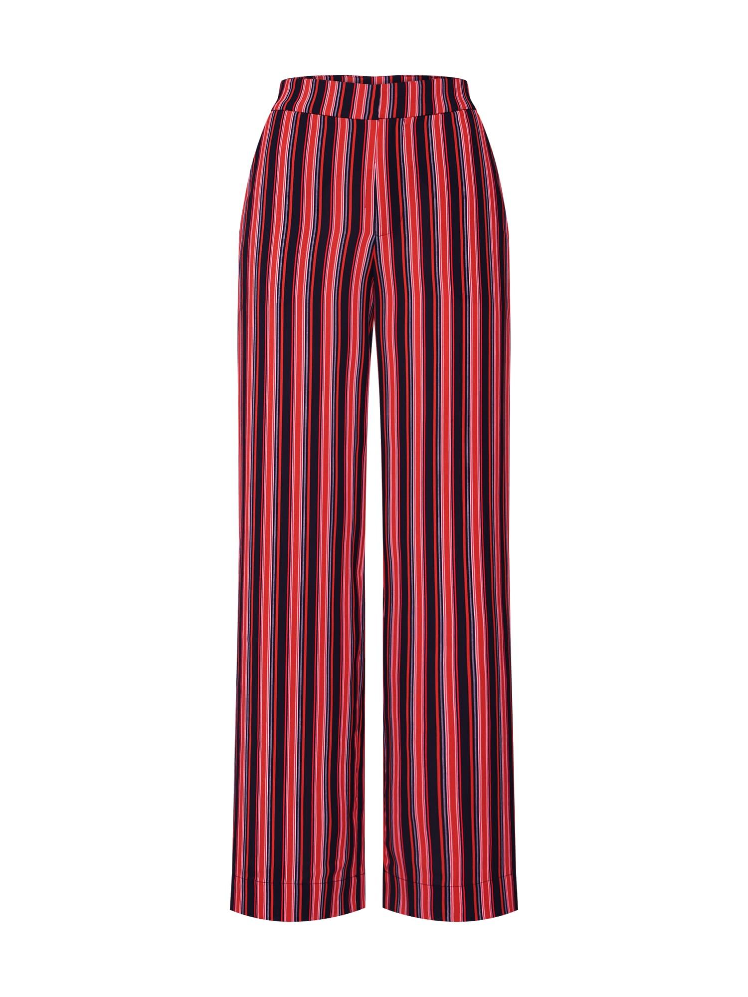 Kalhoty Tilly pink červená černá Gestuz