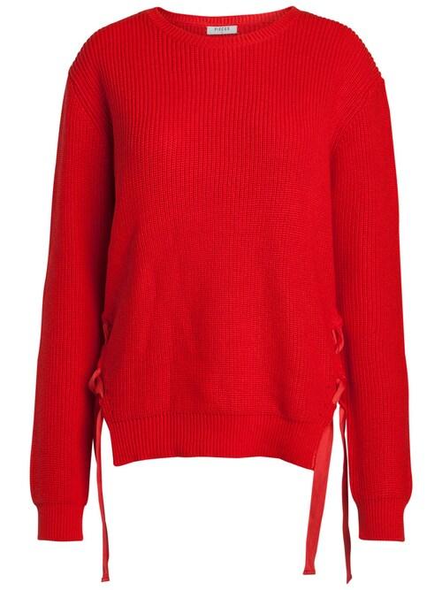 Detailreicher, langärmeliger Pullover