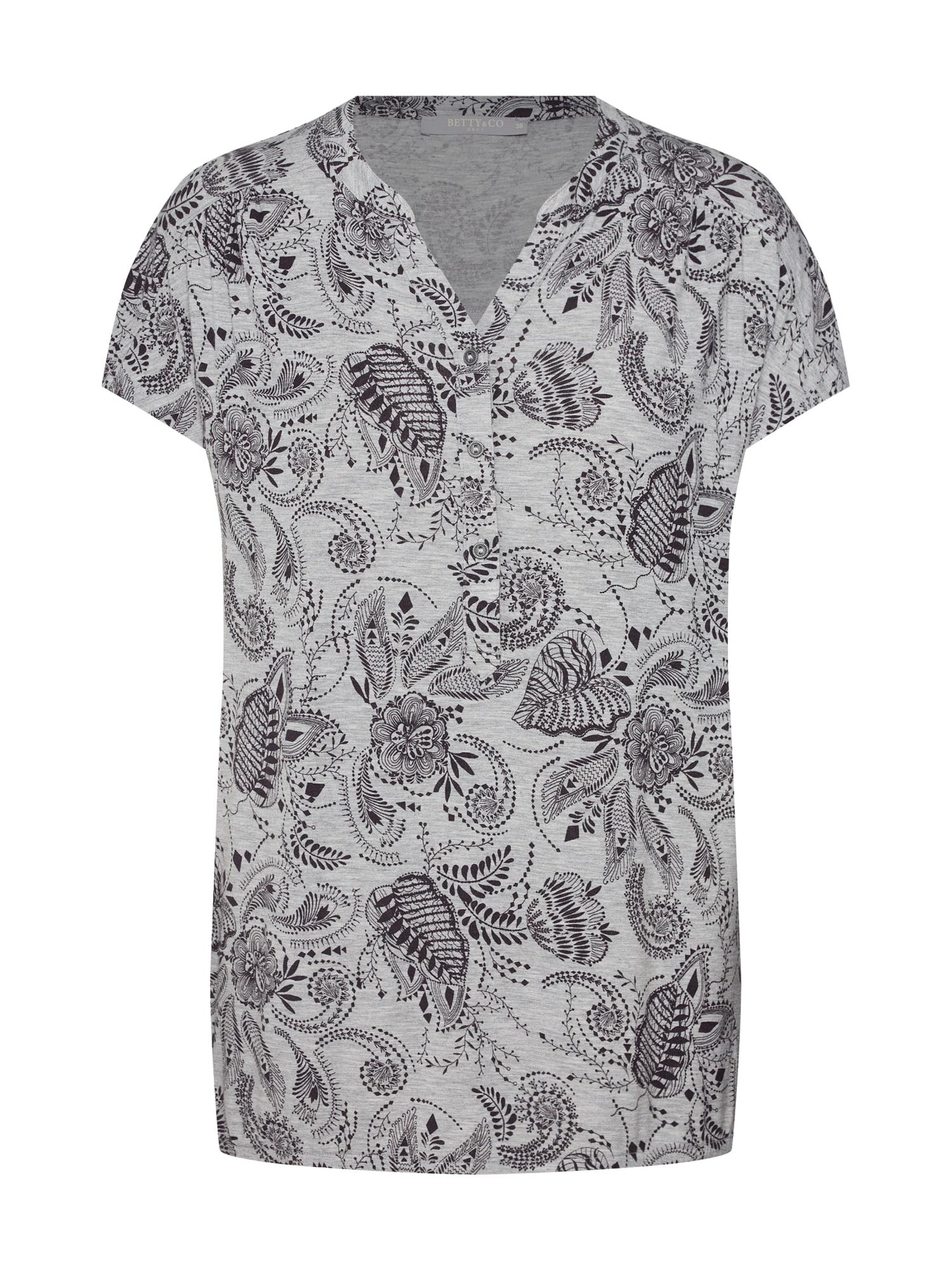 Tričko stříbrně šedá Betty & Co