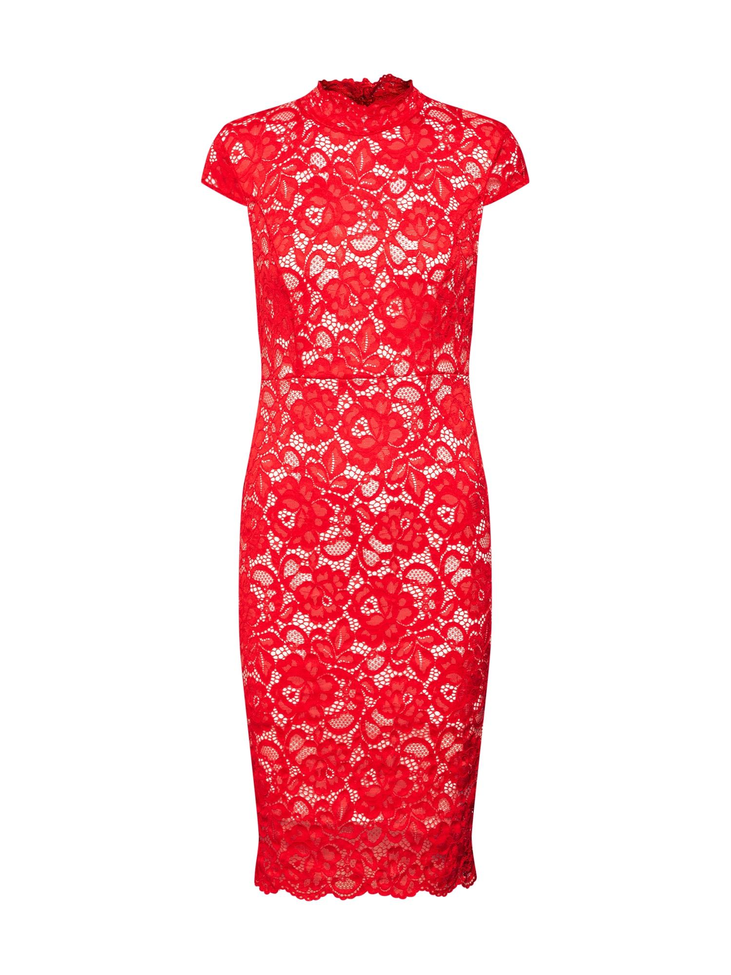 Koktejlové šaty krémová červená TFNC