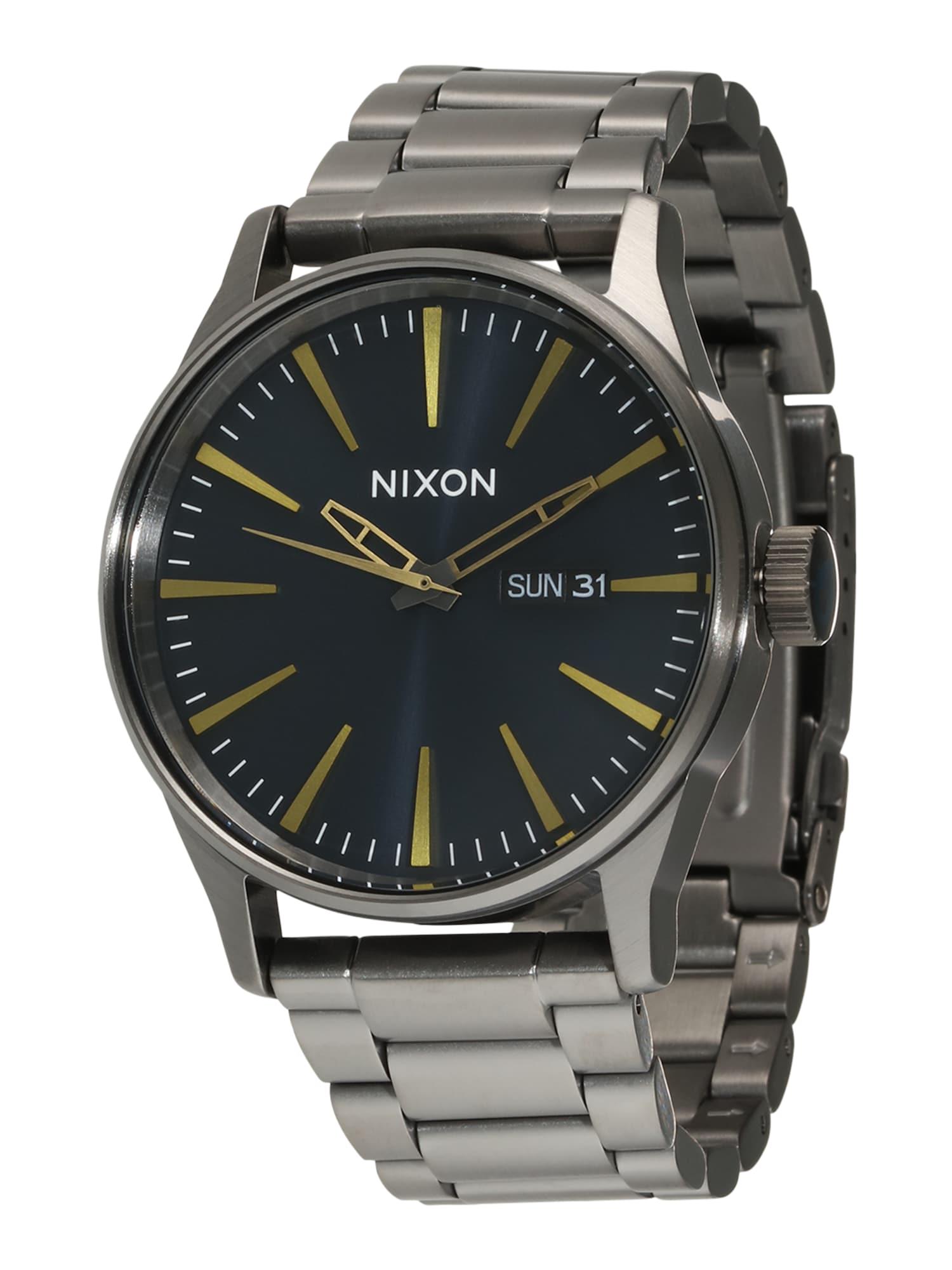 Analogové hodinky Sentry SS stříbrná Nixon