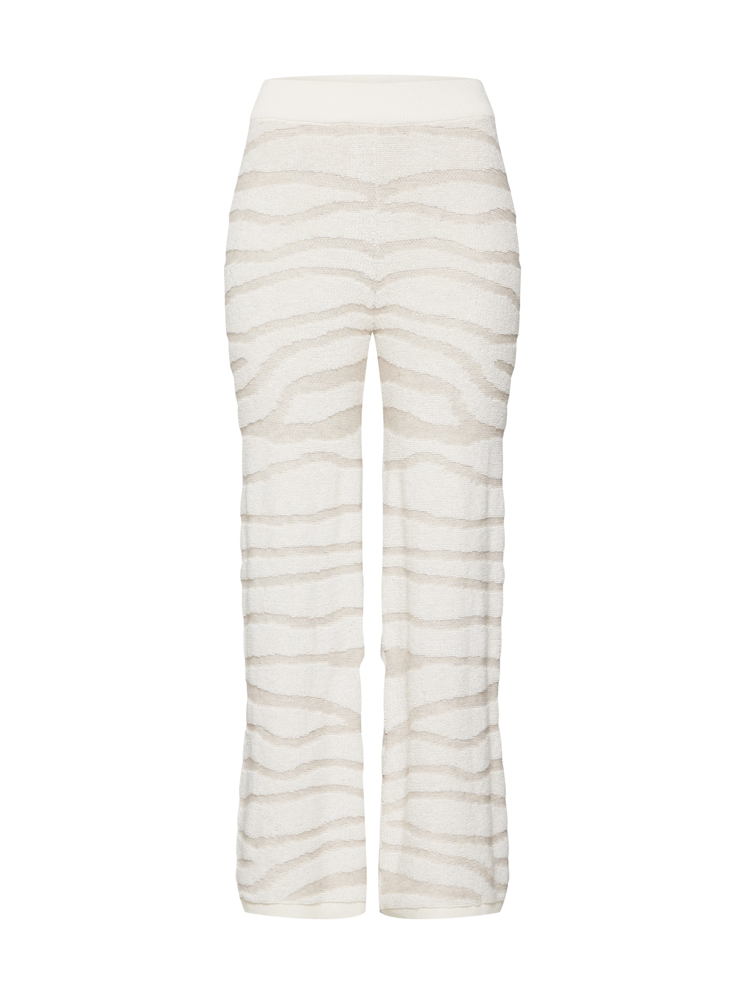 Kalhoty Zebra Knit Pant krémová Ragdoll LA
