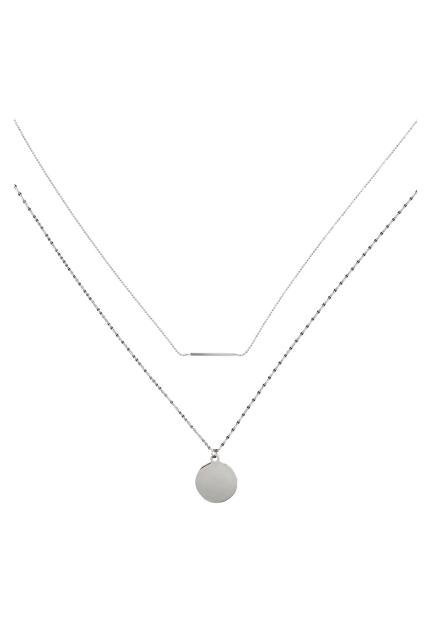 Halskette mit Taleranhänger | Schmuck > Halsketten > Lange Ketten | Silber | HALLHUBER