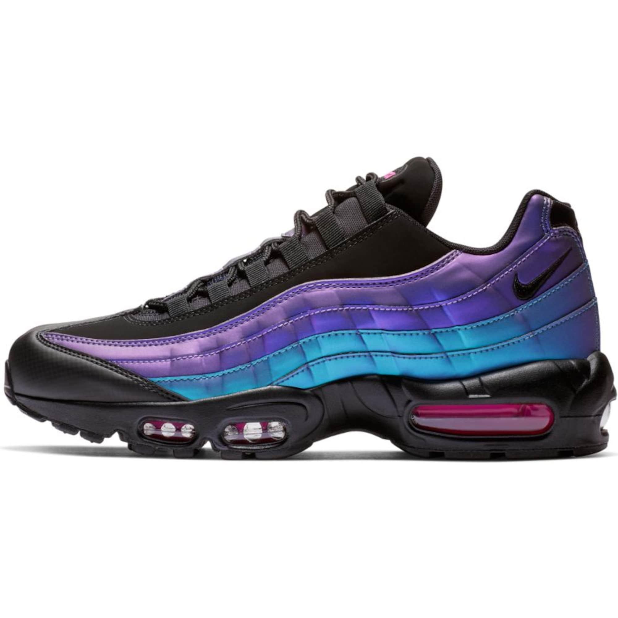 Tenisky Air Max 95 Premium svítivě modrá tmavě fialová černá Nike Sportswear