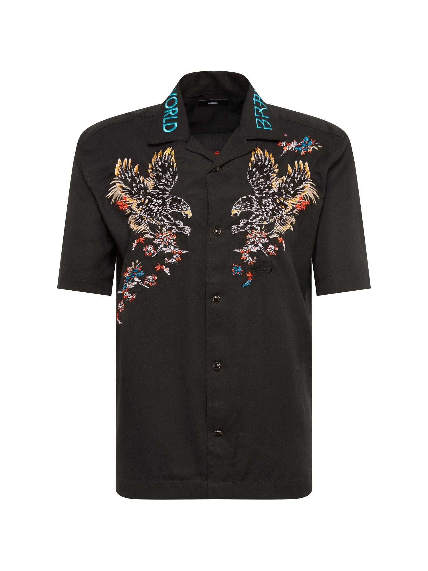 Košile S-KENTA-A HEMD mix barev černá DIESEL