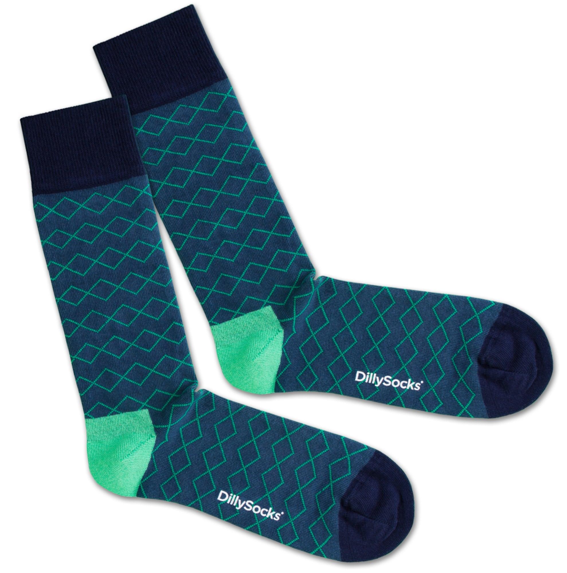 Ponožky Under Water Lines modrá zelená černá DillySocks