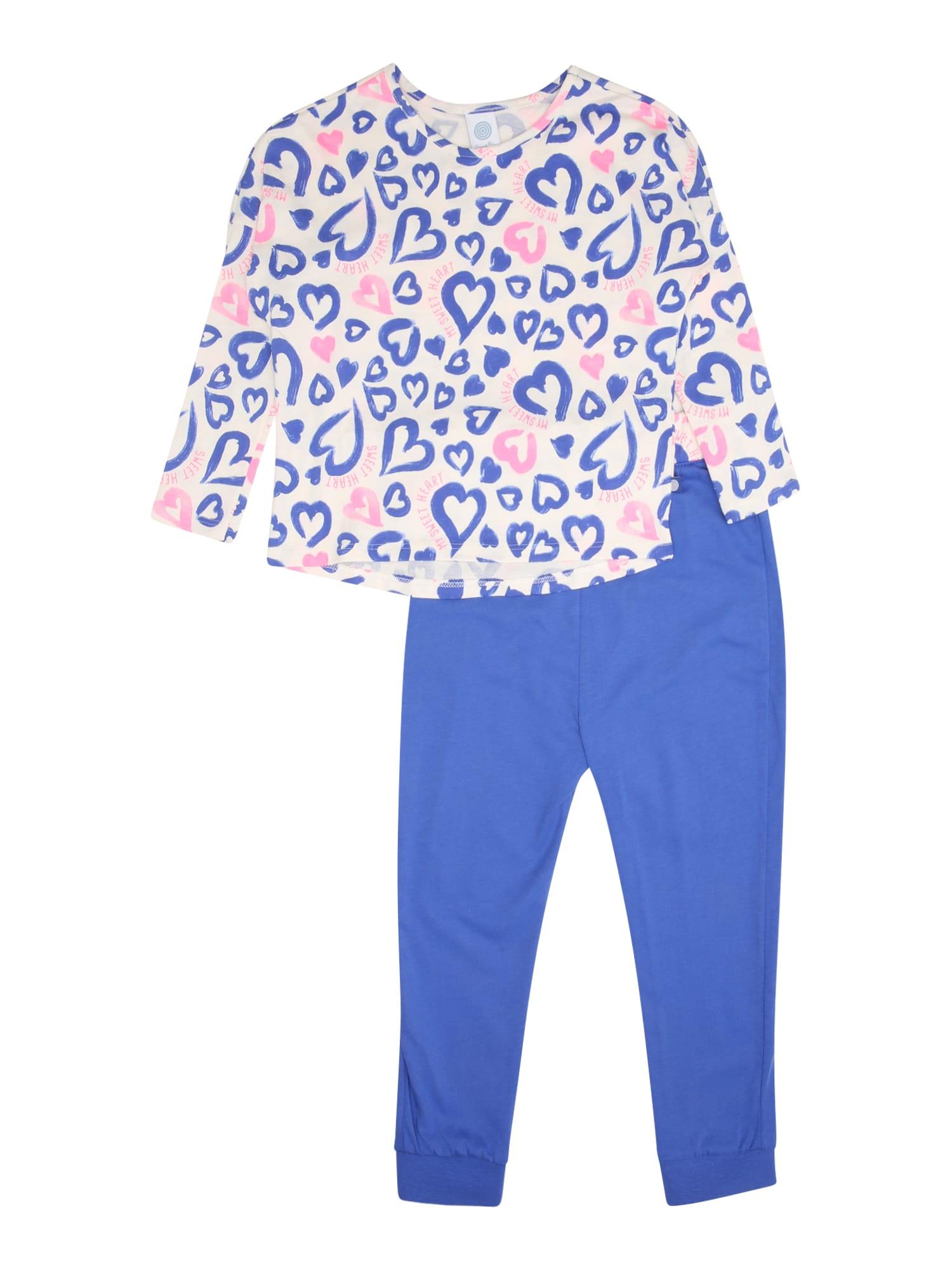 Pyžamo modrá růžová bílá SANETTA
