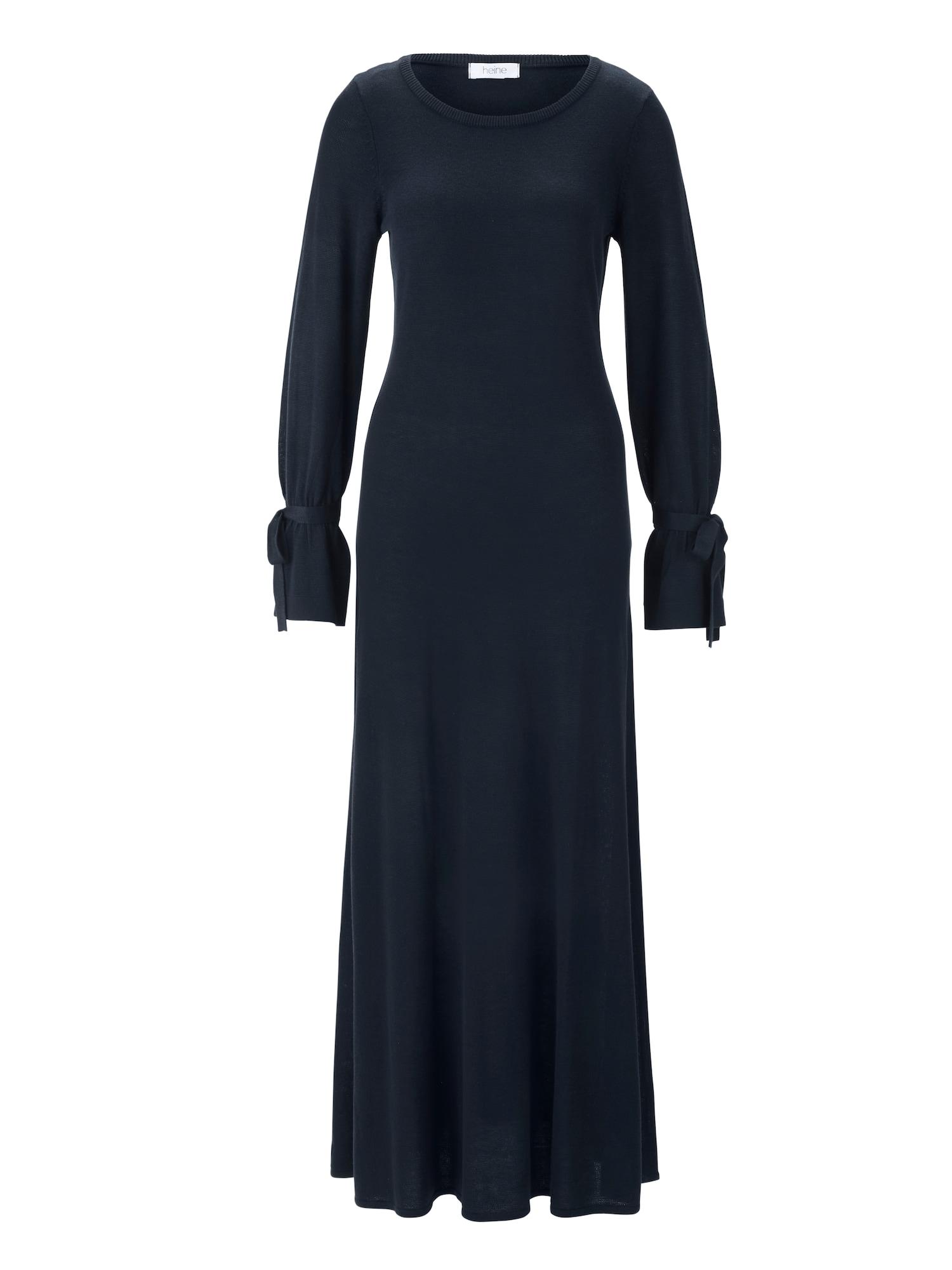 Úpletové šaty Strickkleid tmavě modrá Heine
