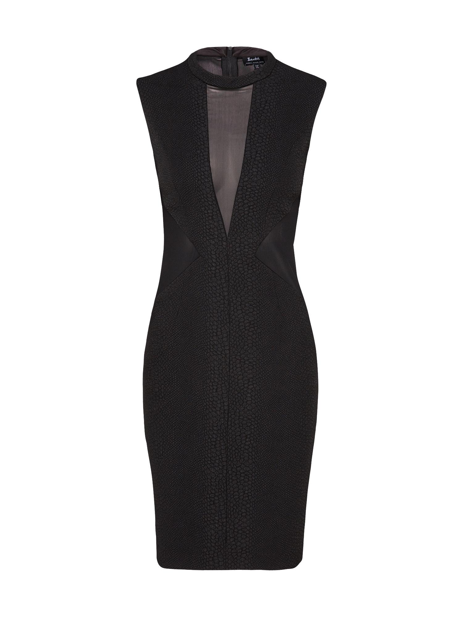 Koktejlové šaty CROC PANEL černá Bardot