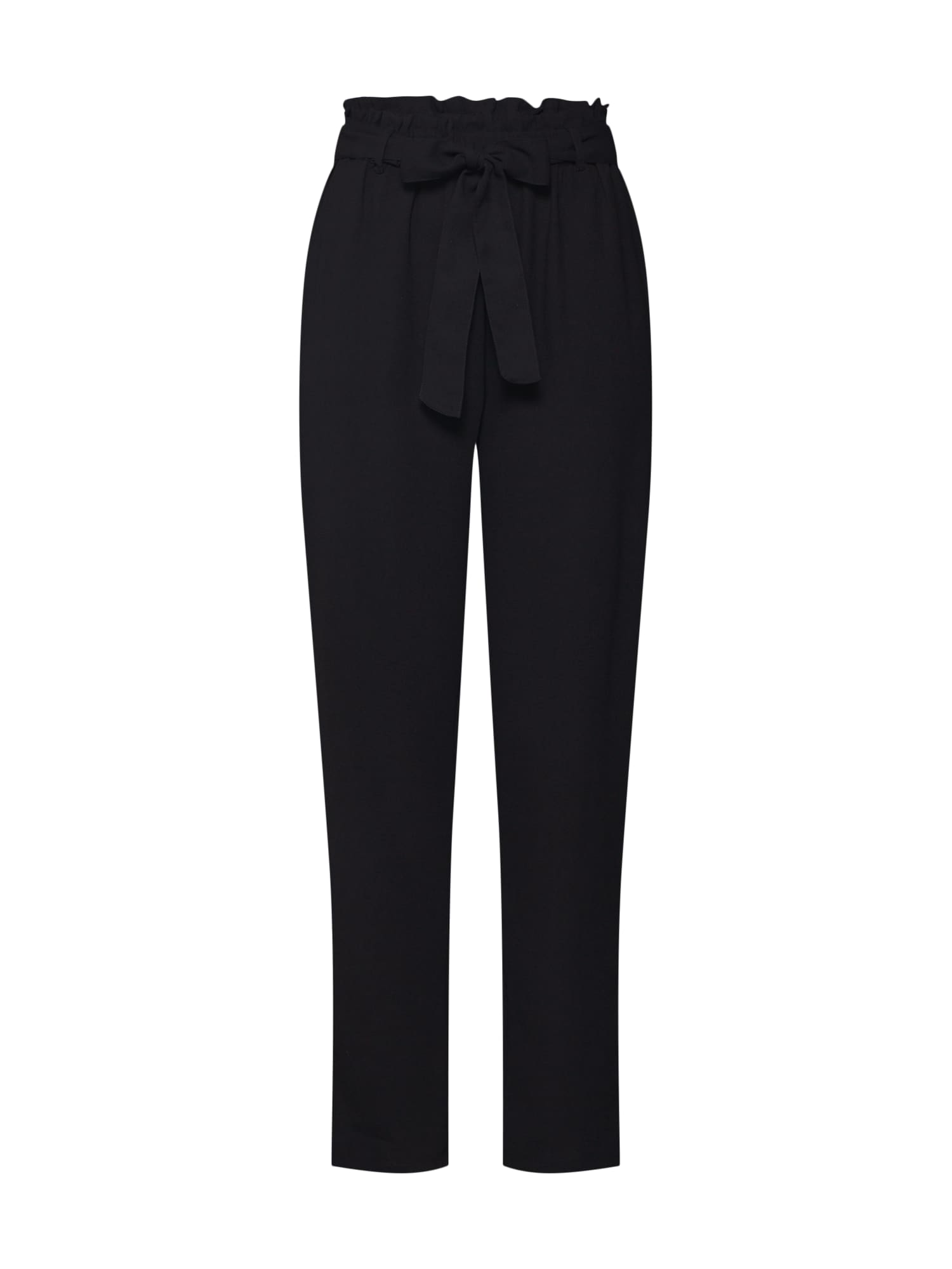 Kalhoty se sklady v pase Tied Waist černá NA-KD