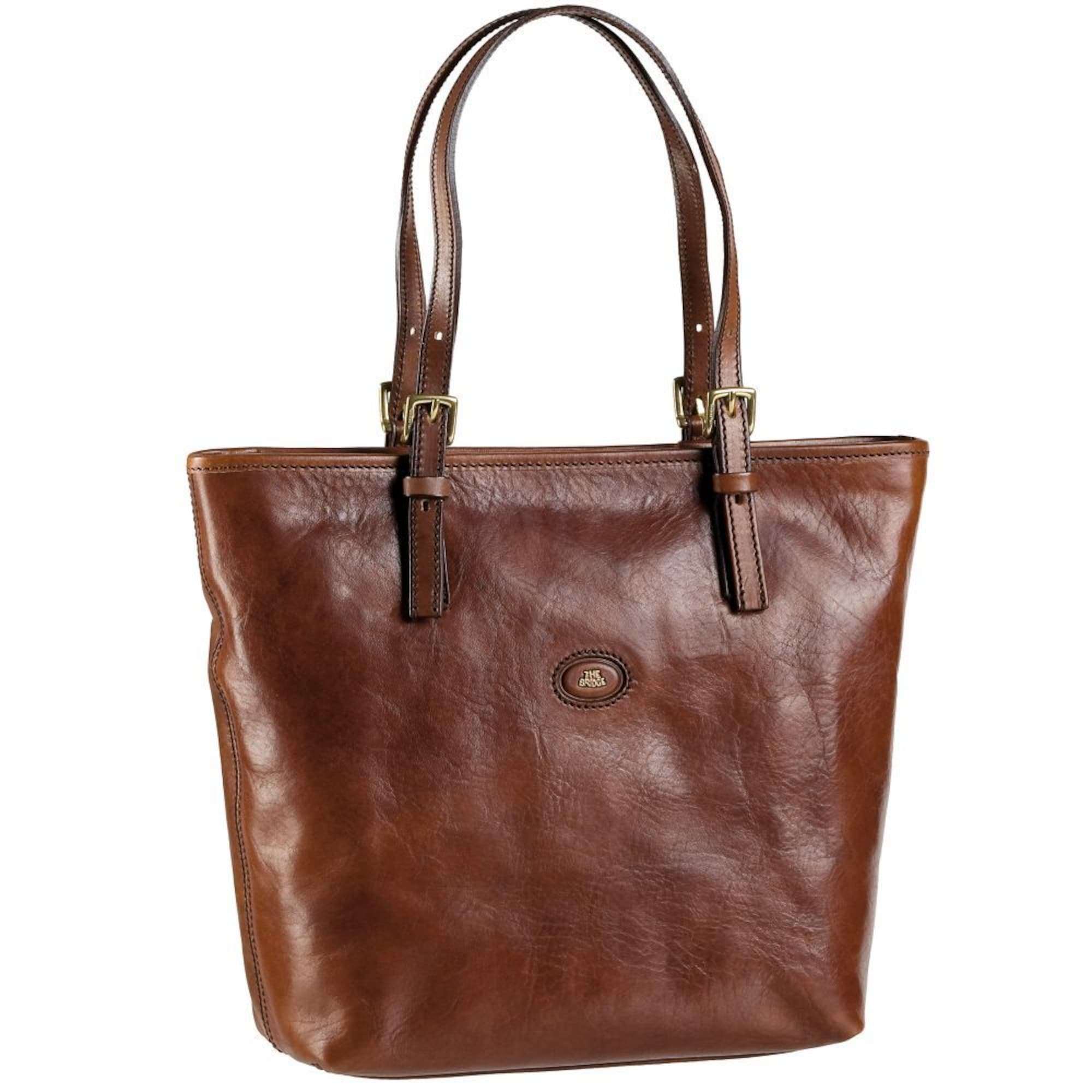 Leder Shopper 'Story Donna' | Taschen > Handtaschen > Shopper | Braun | The Bridge