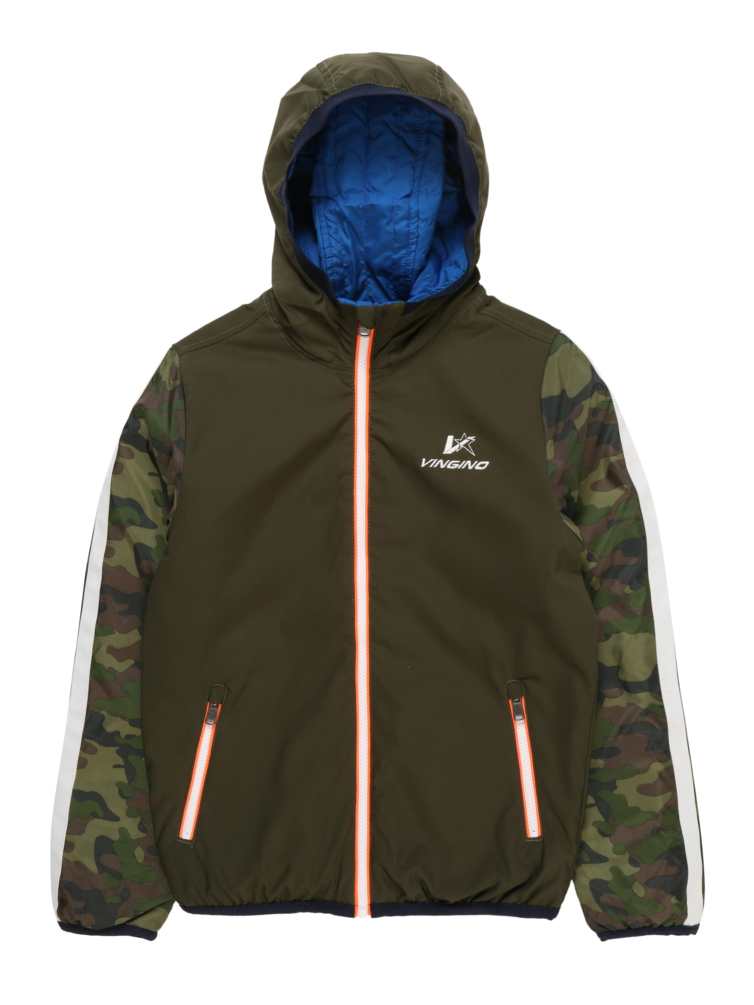 Přechodná bunda Tamer khaki mix barev VINGINO