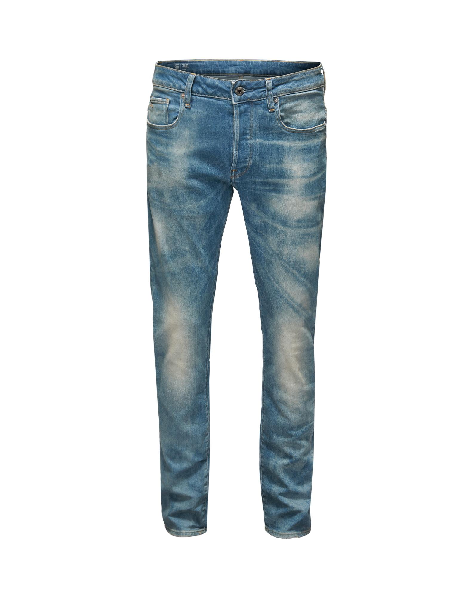 G-STAR RAW Heren Jeans 3301 Slim lichtblauw