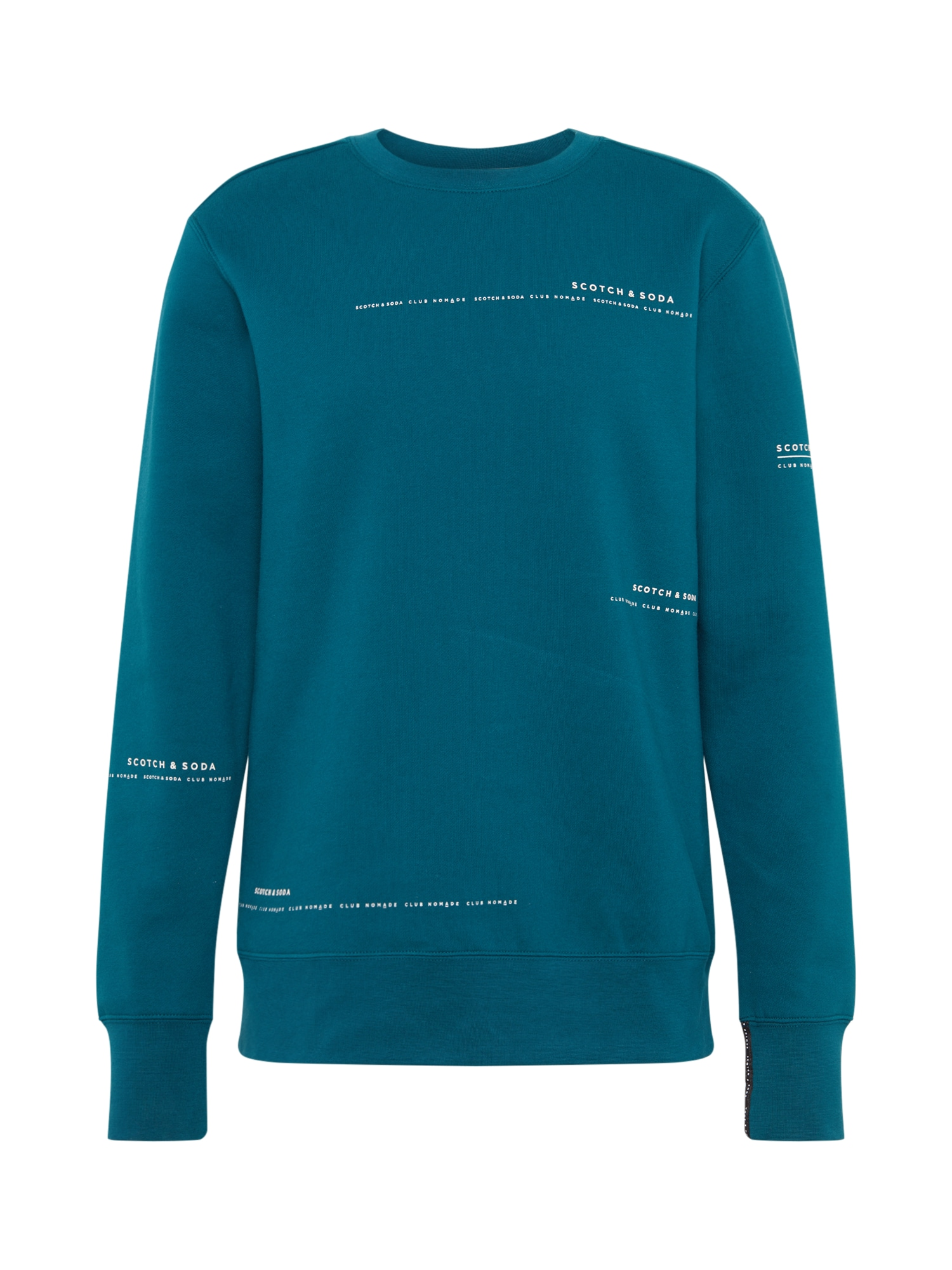 SCOTCH & SODA Mikina 'Club Nomade basic crewneck sweat with ar'  zelená